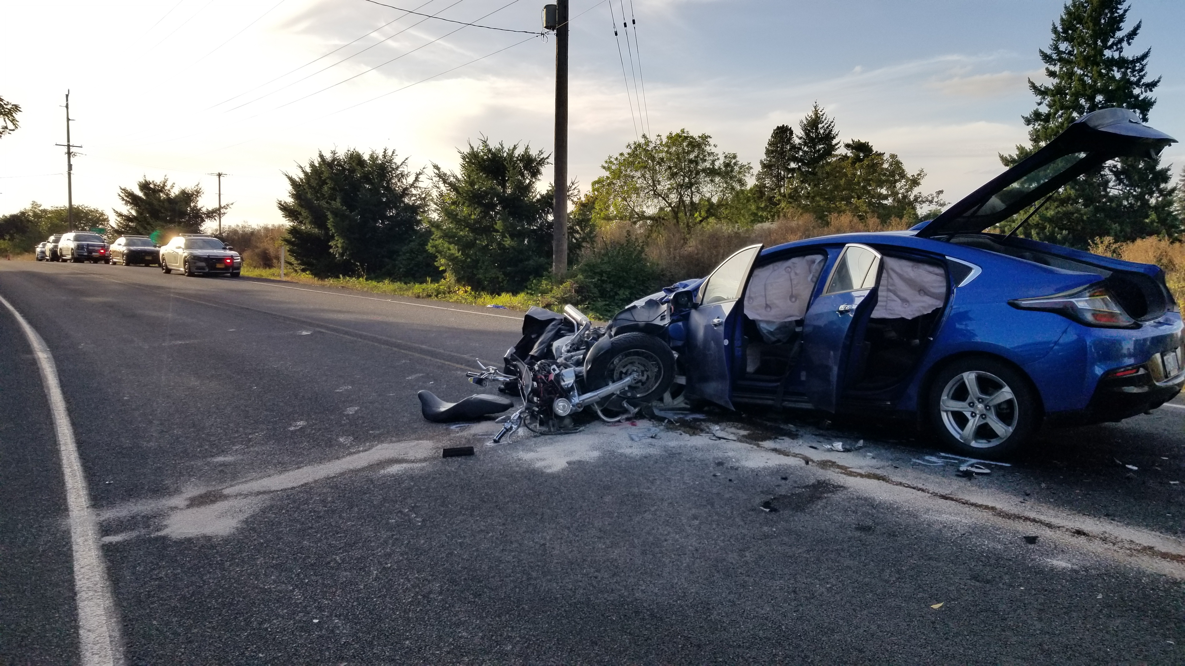 Oregon motorcyclist killed in head-on crash while trying to pass car, police say