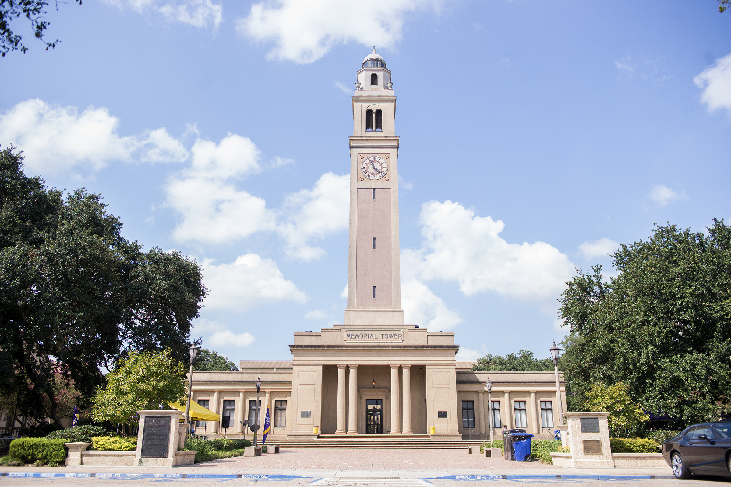 File photo displays the LSU clock tower on Saturday, September 23, 2017.