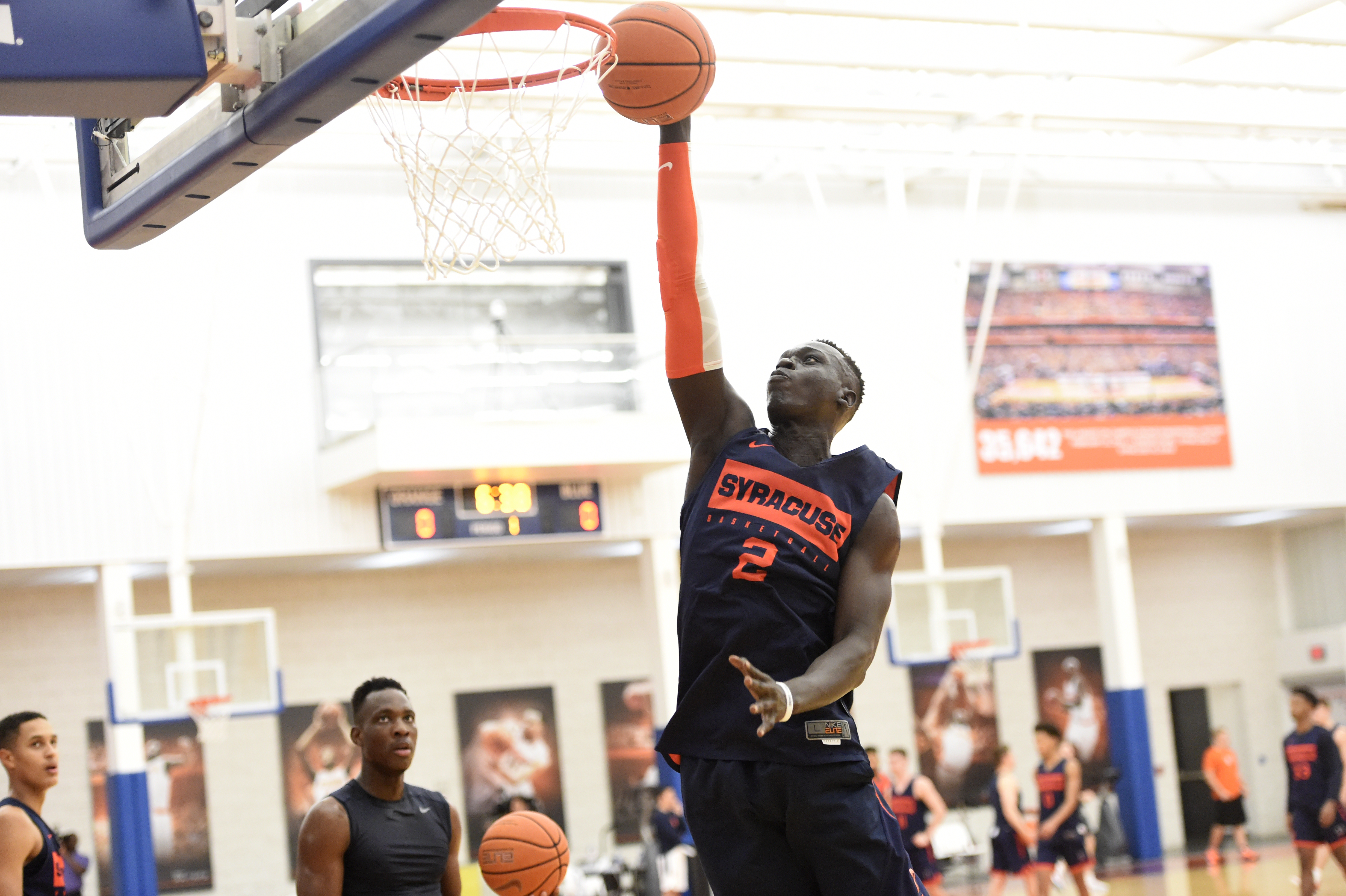 Bulking up: Several Syracuse basketball players have gained size and strength since the summer