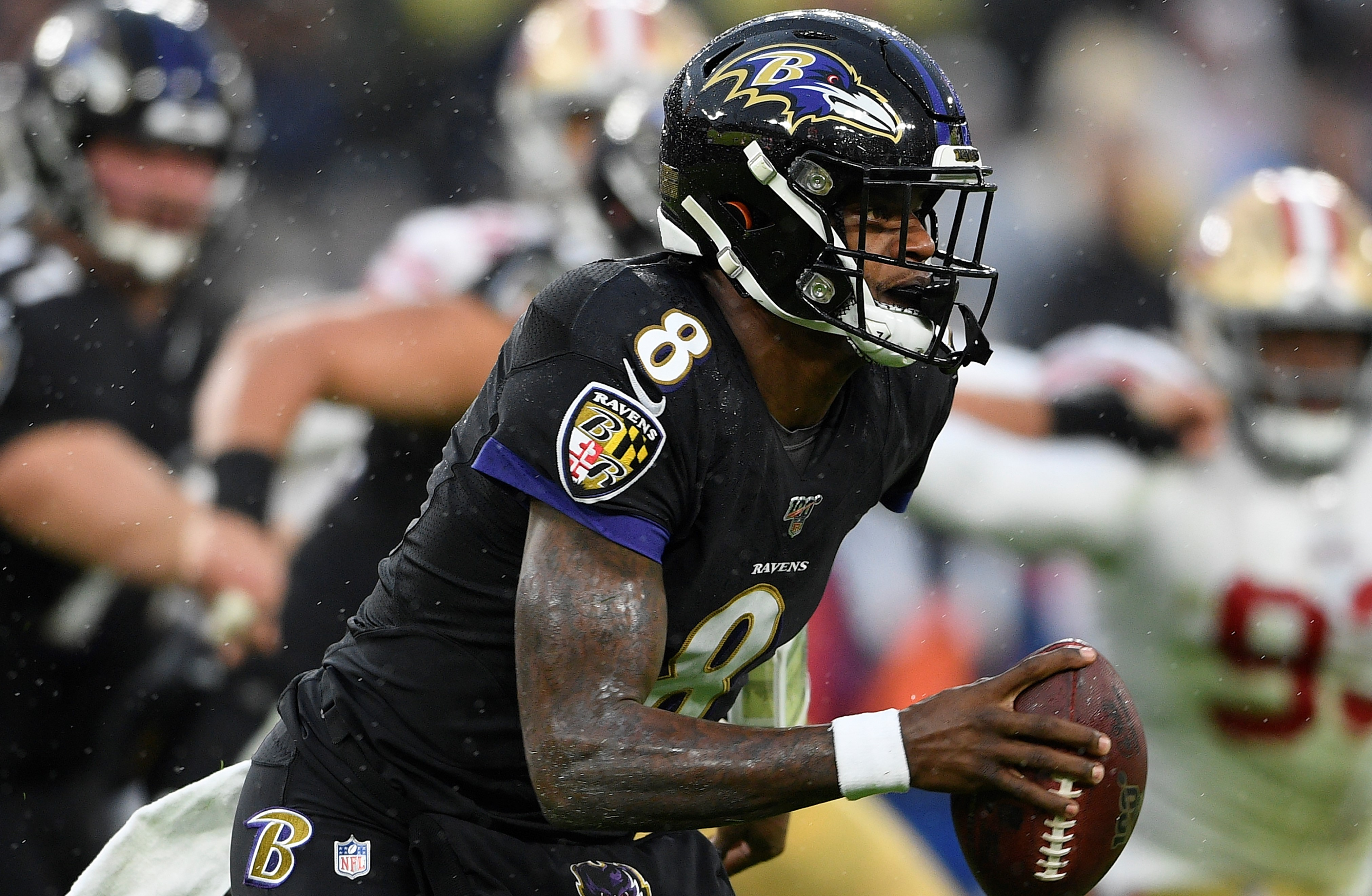 NFL rumors: 49ers broadcaster suspended after saying Ravens' Lamar Jackson's 'dark skin with a dark football' gives him an advantage