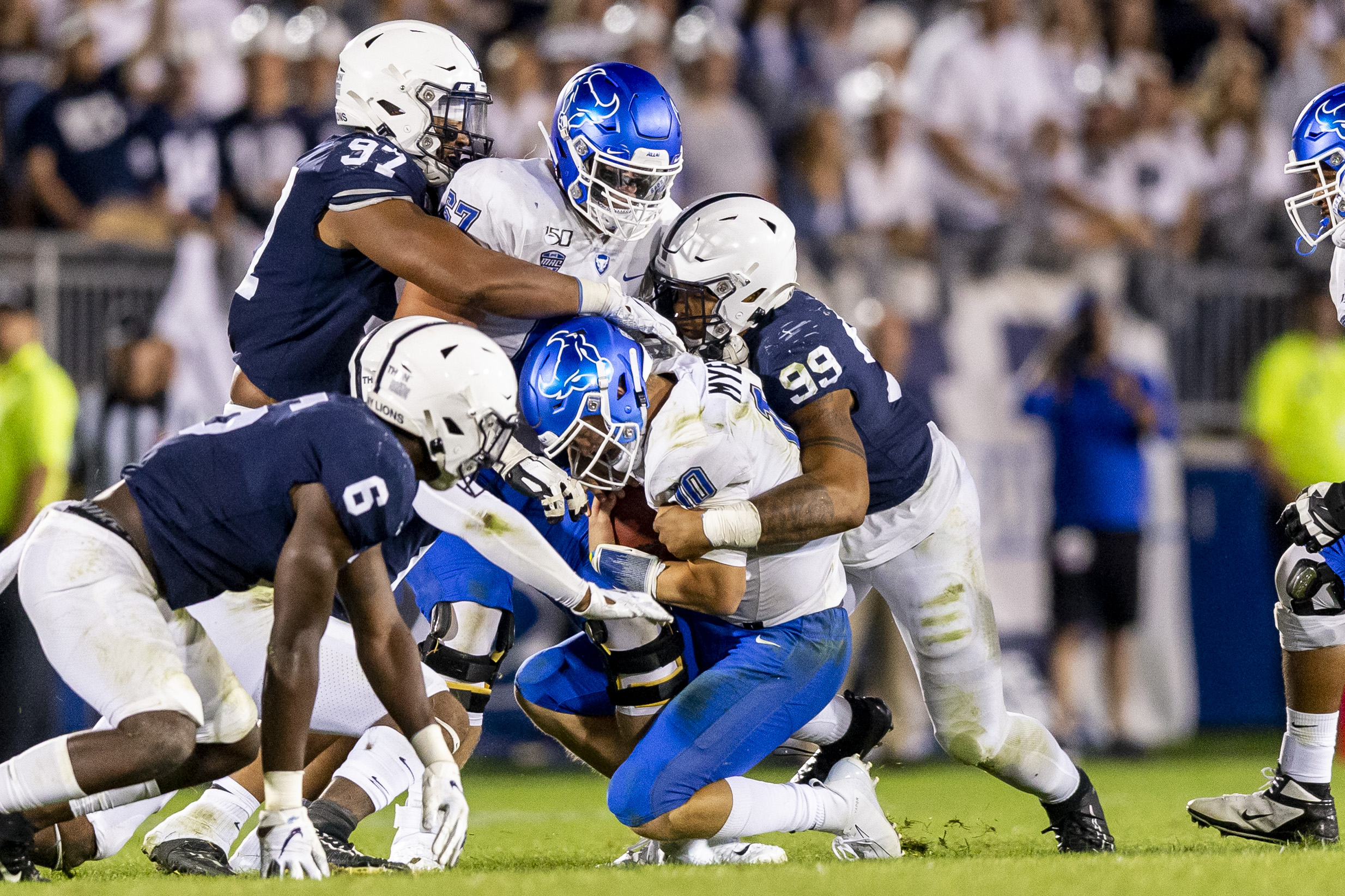 Penn State's James Franklin on one potential defensive issue, a running back update, the Lions' youth movement, more
