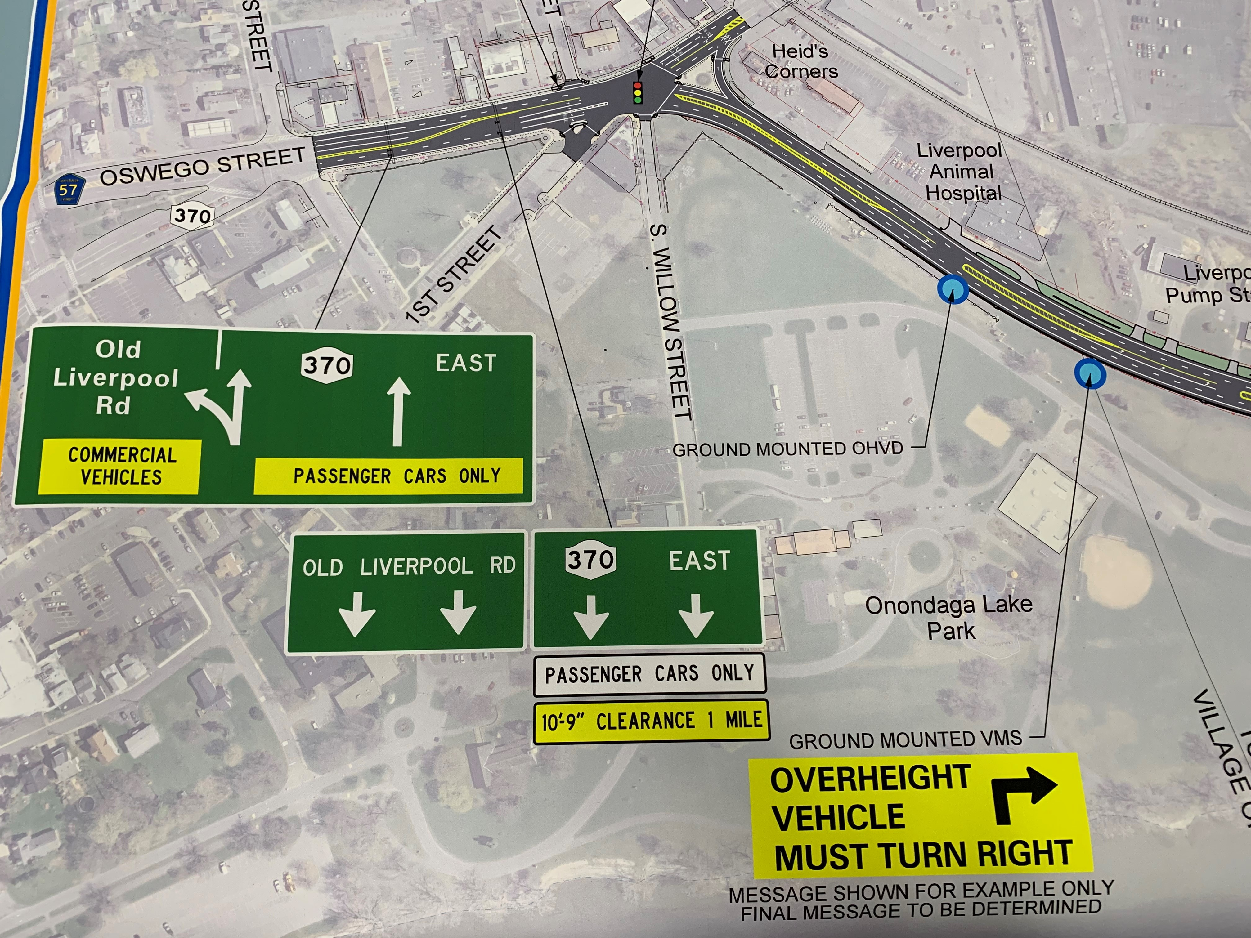 See NY's plans to reduce lanes on Onondaga Lake Parkway