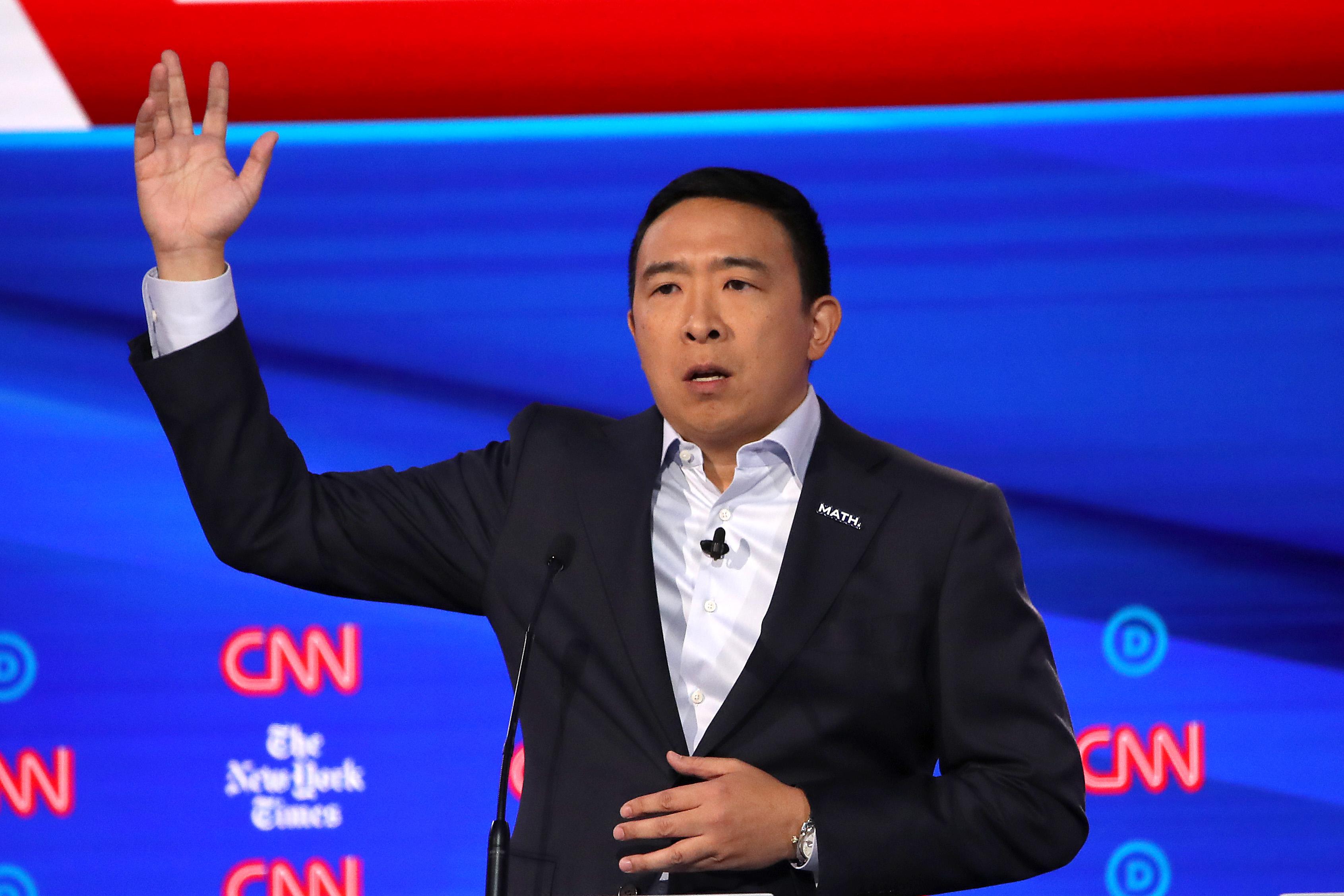 Andrew Yang at Democratic debate: No one uses Bing. 'Sorry, Microsoft, it's true.'