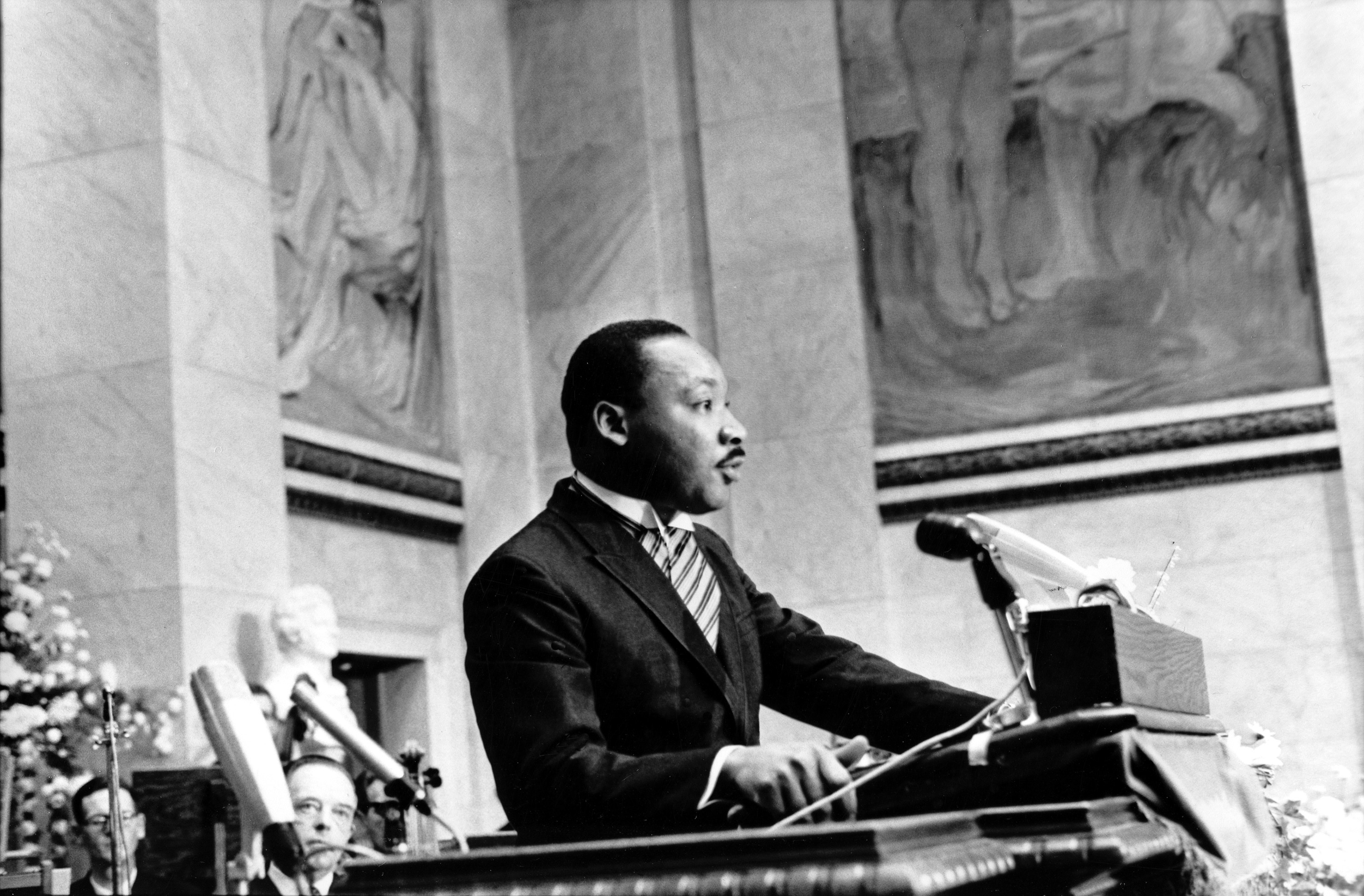 Trying to end the 'long night of racial injustice,' MLK wins Nobel Peace Prize