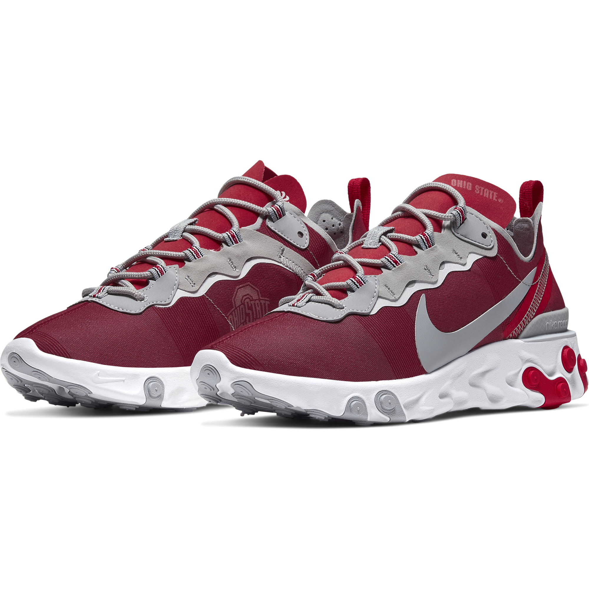 Nike gives its popular React Element 55 shoes the Ohio ...