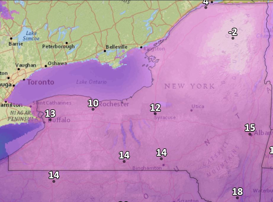 Enjoy the brief warmup: Winter cold returns this weekend to Upstate NY