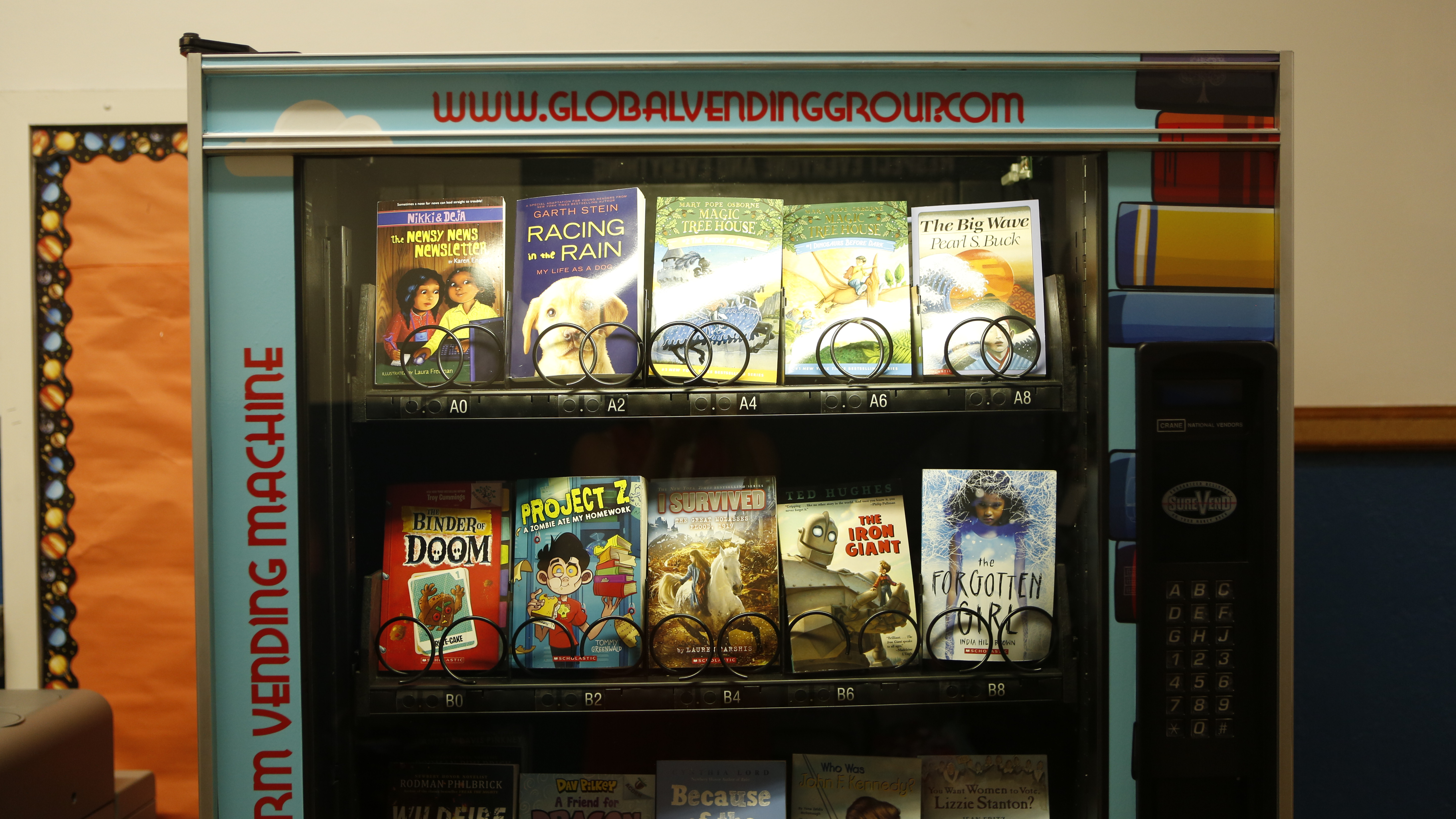 Forget the snacks. This school's vending machine is giving out books.