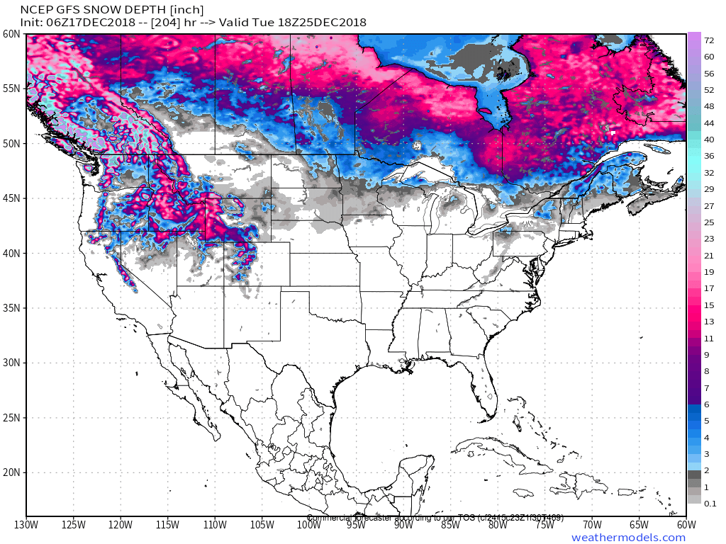 White Christmas Forecast.We All Better Start Dreaming A Lot About A White Christmas
