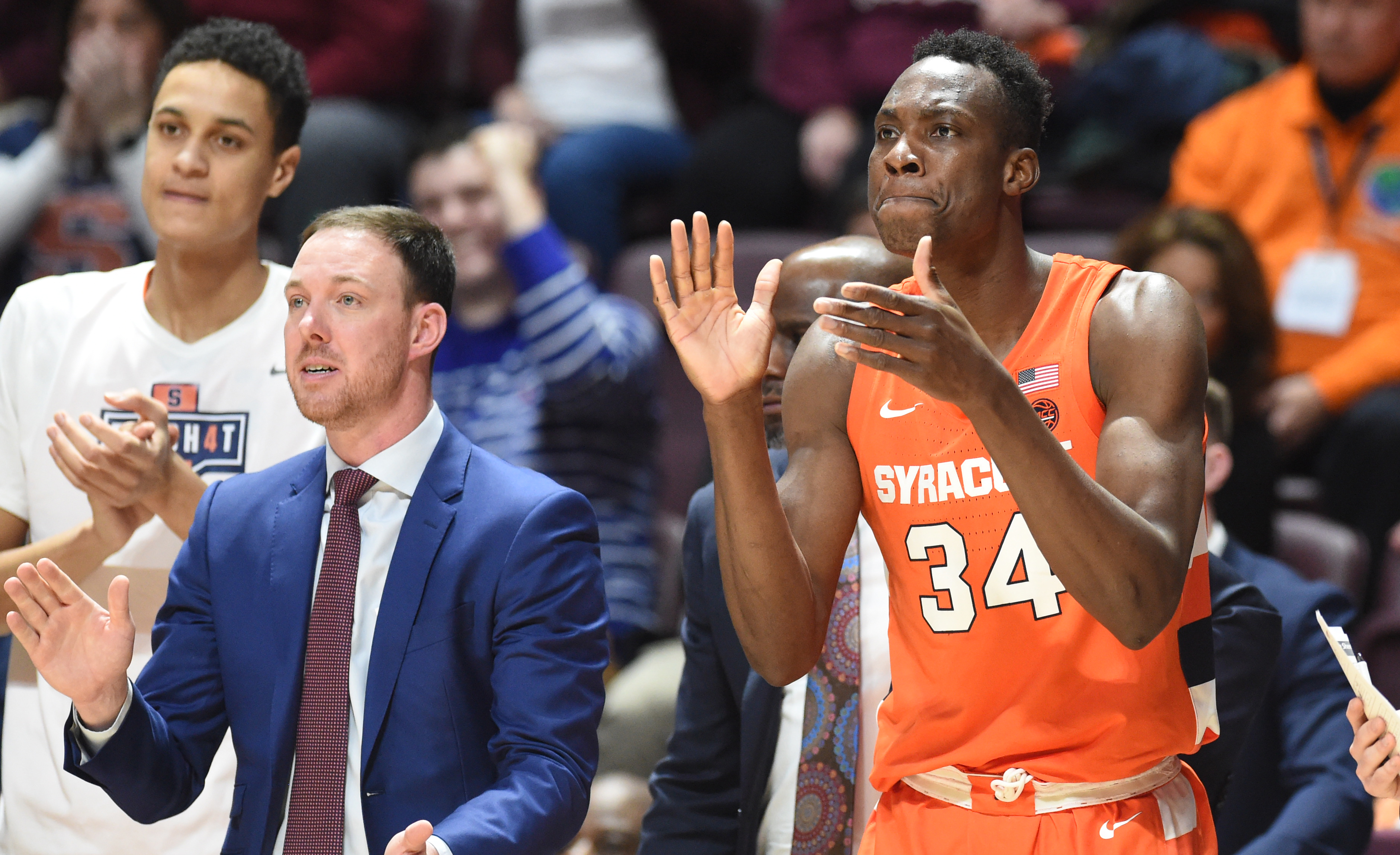 Unusual substitution on final play helps Syracuse preserve win over Virginia Tech
