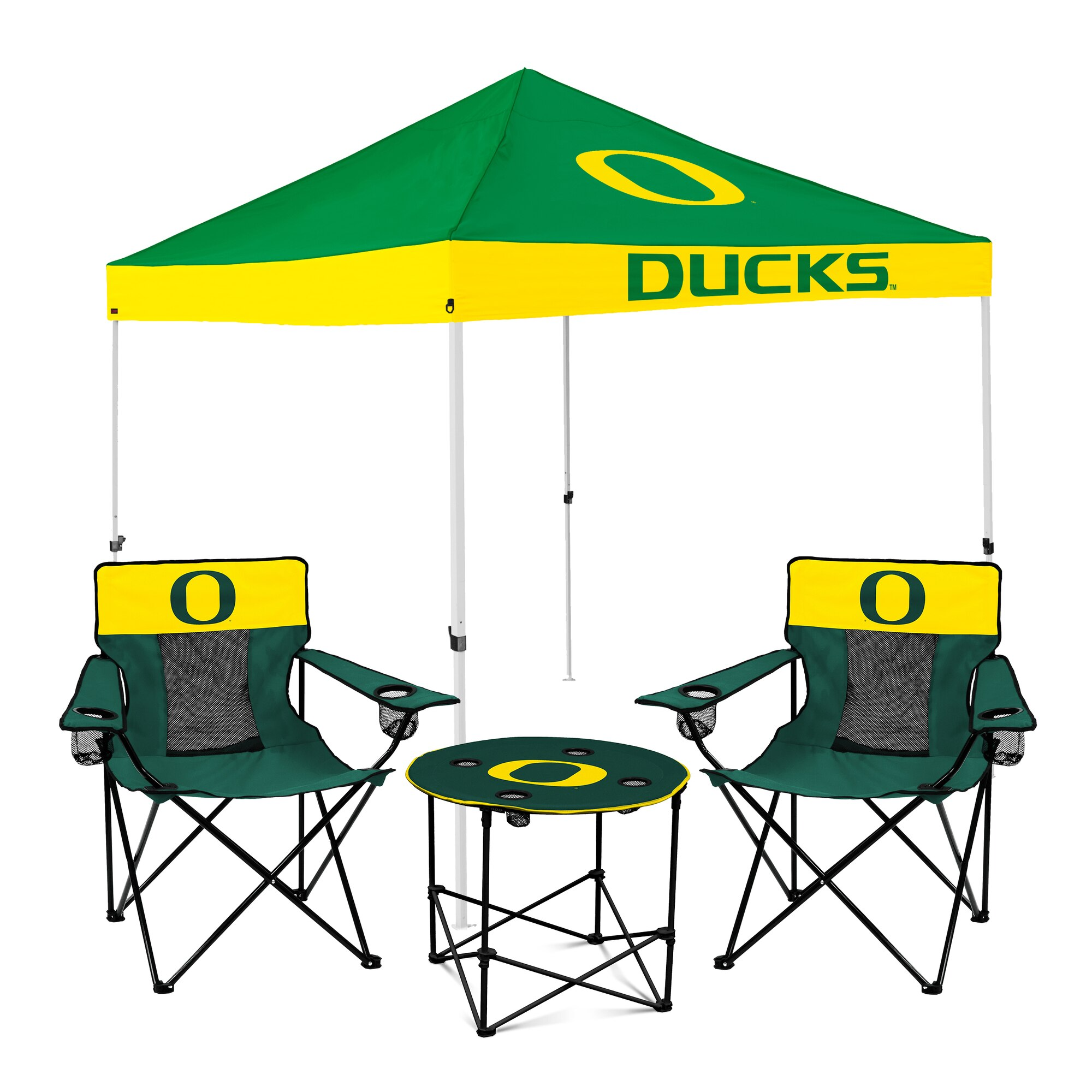 Oregon Ducks Tailgate Canopy Tent, Table, & Chairs Set