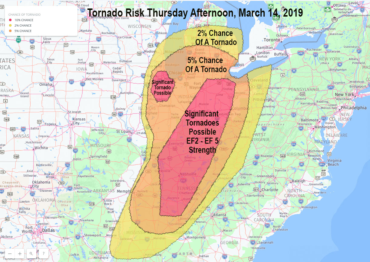 Significant tornado risk for Chicago, and brought up to ...