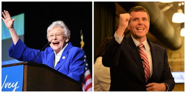 Gov. Kay Ivey and Tuscaloosa Mayor Walt Maddox