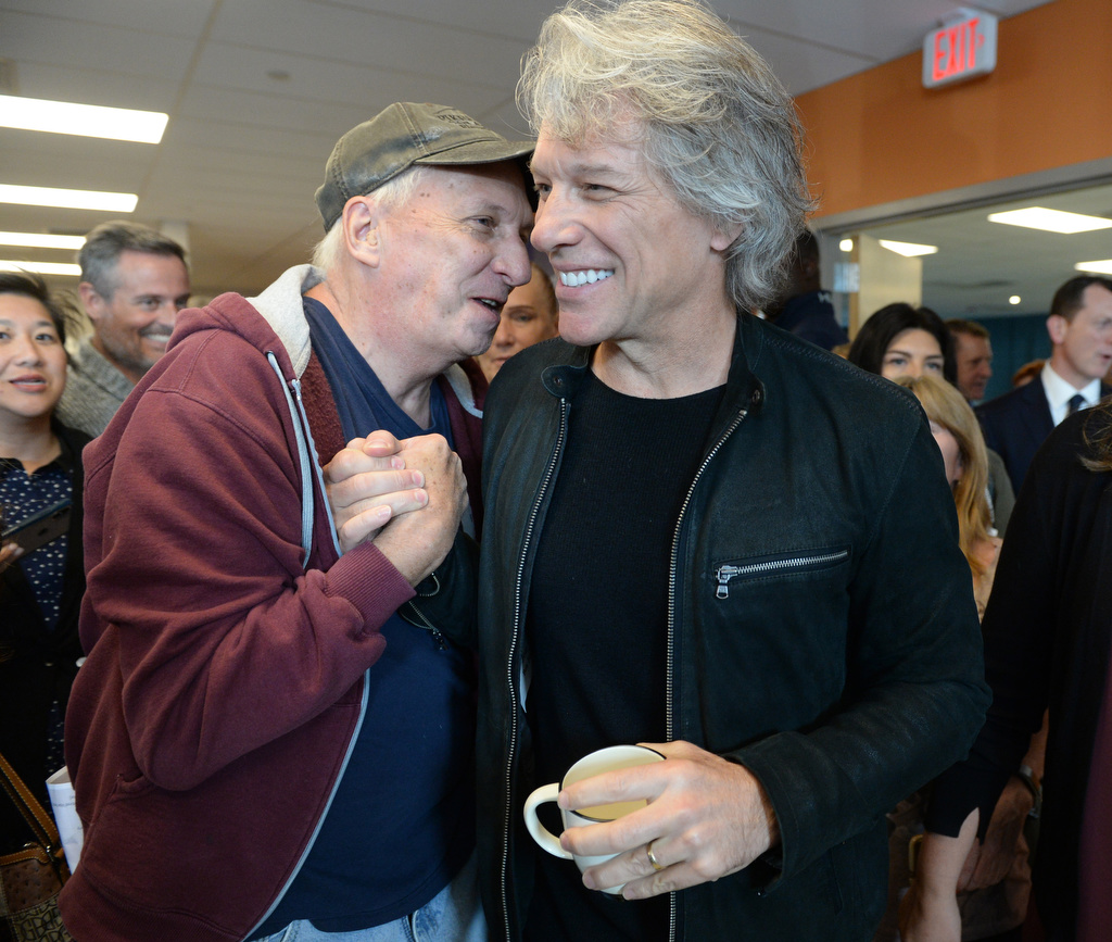 Bon Jovi spent World Homeless Day celebrating N.J. shelter's renovation