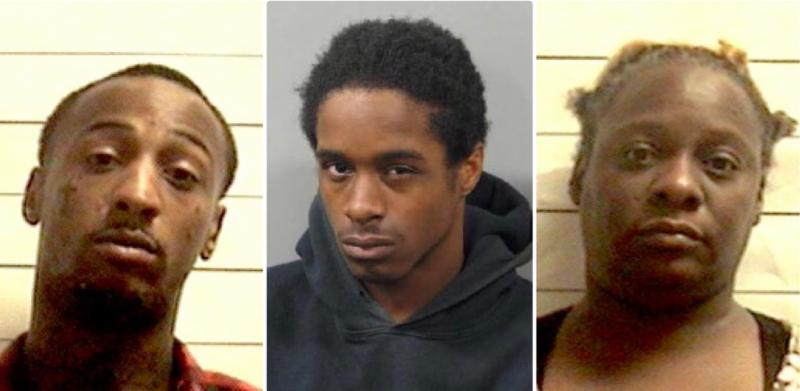 From left: Torrel Knox, Robert Mitchell and Shantrell Knox were indicted on charges connected to a 2015 homicide in the Pines Village neighborhood that left 21-year-old Brandon Soraparu dead.