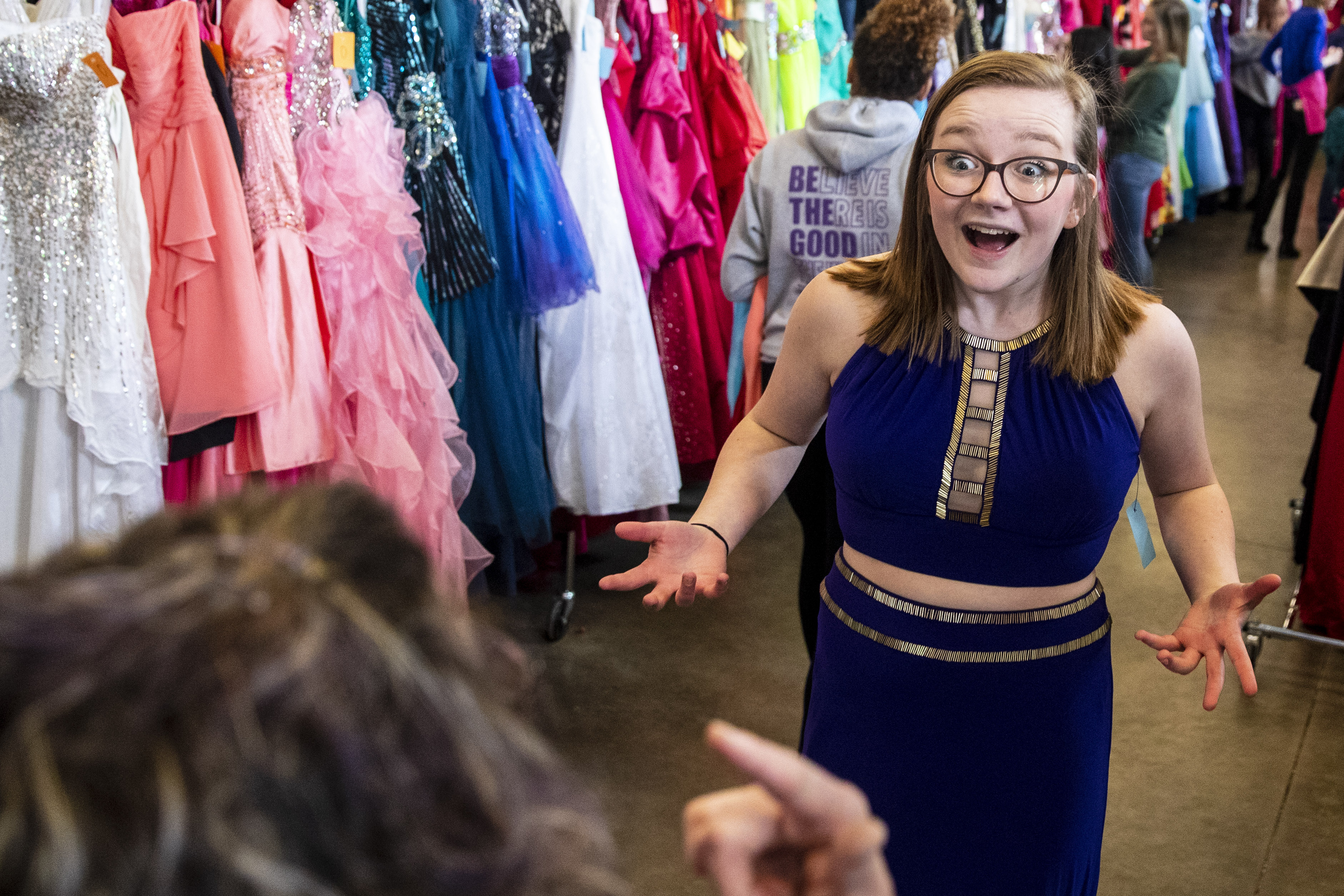 Hundreds of teens find free prom dresses at Cinderella Project of Kalamazoo