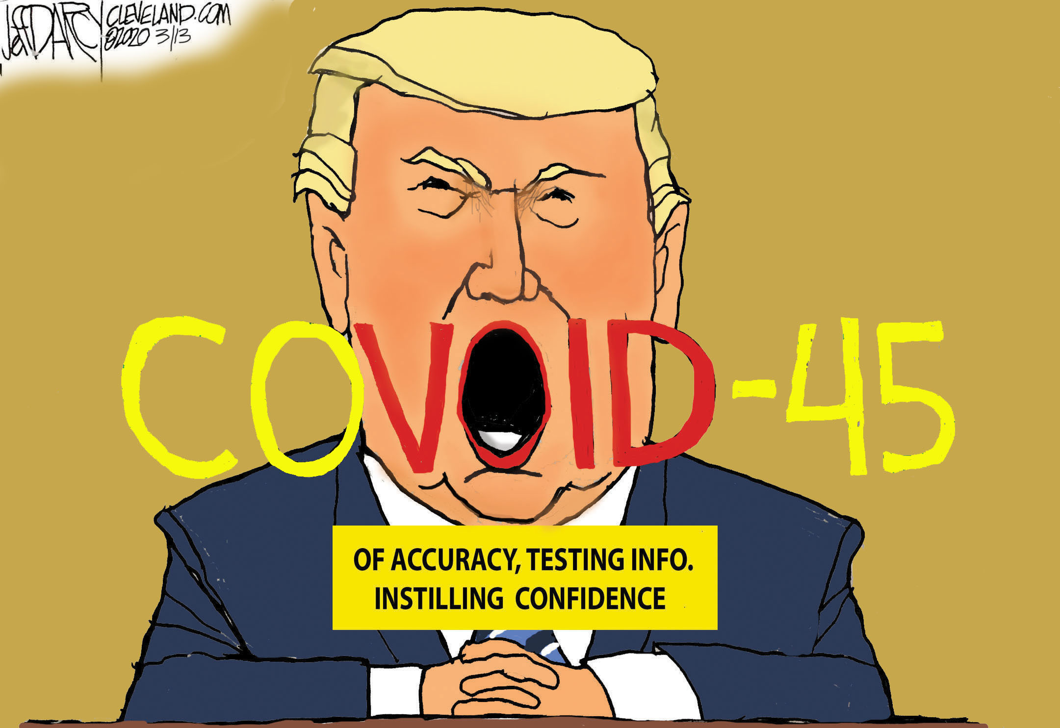 Trump projects incompetence in addressing COVID-19: Darcy cartoon -  cleveland.com