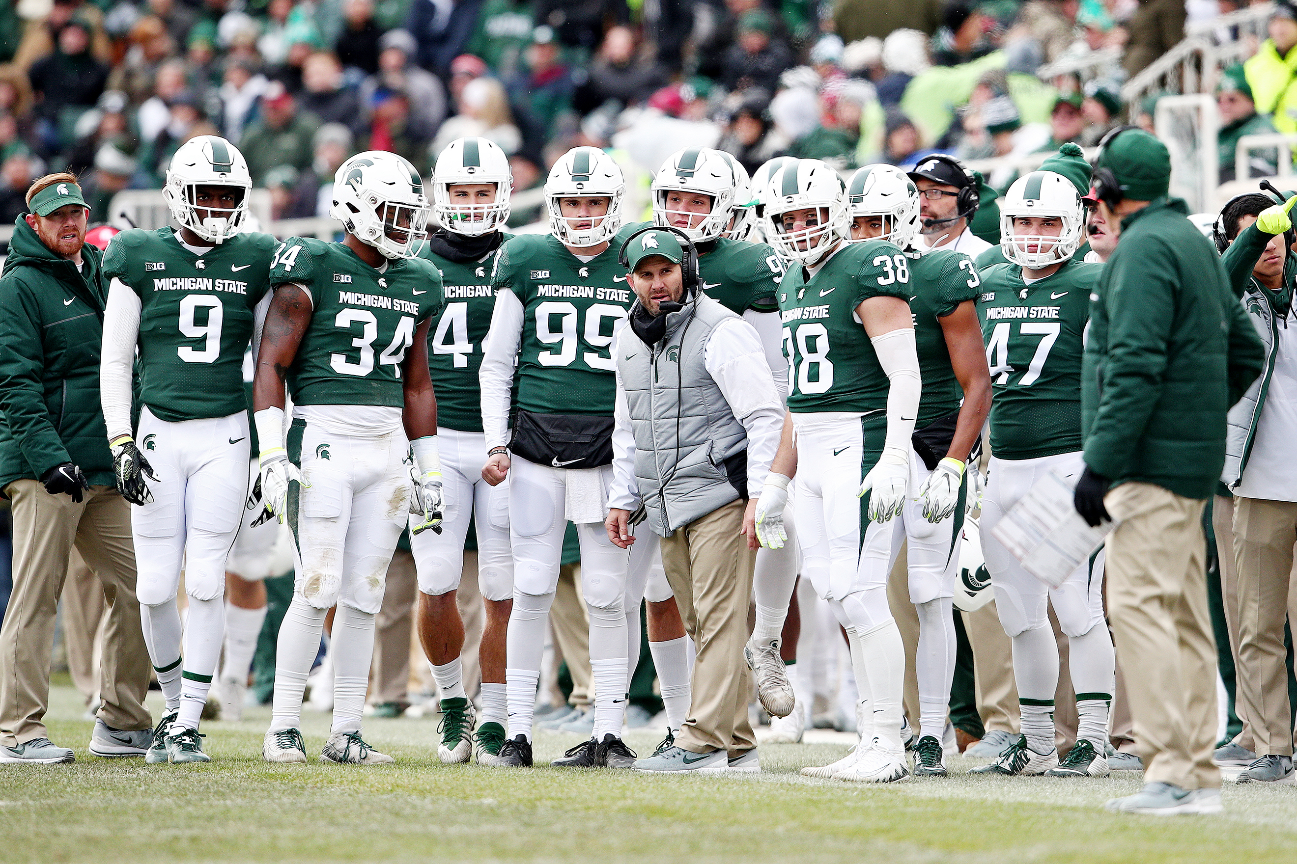 Kickoff Times Set For Six Michigan State Games Including