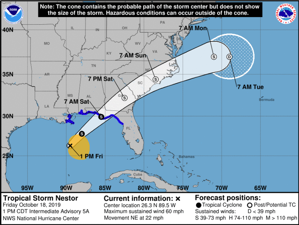 Tropical Storm Nestor forms, taking aim at Florida before tracking across Mid-Atlantic