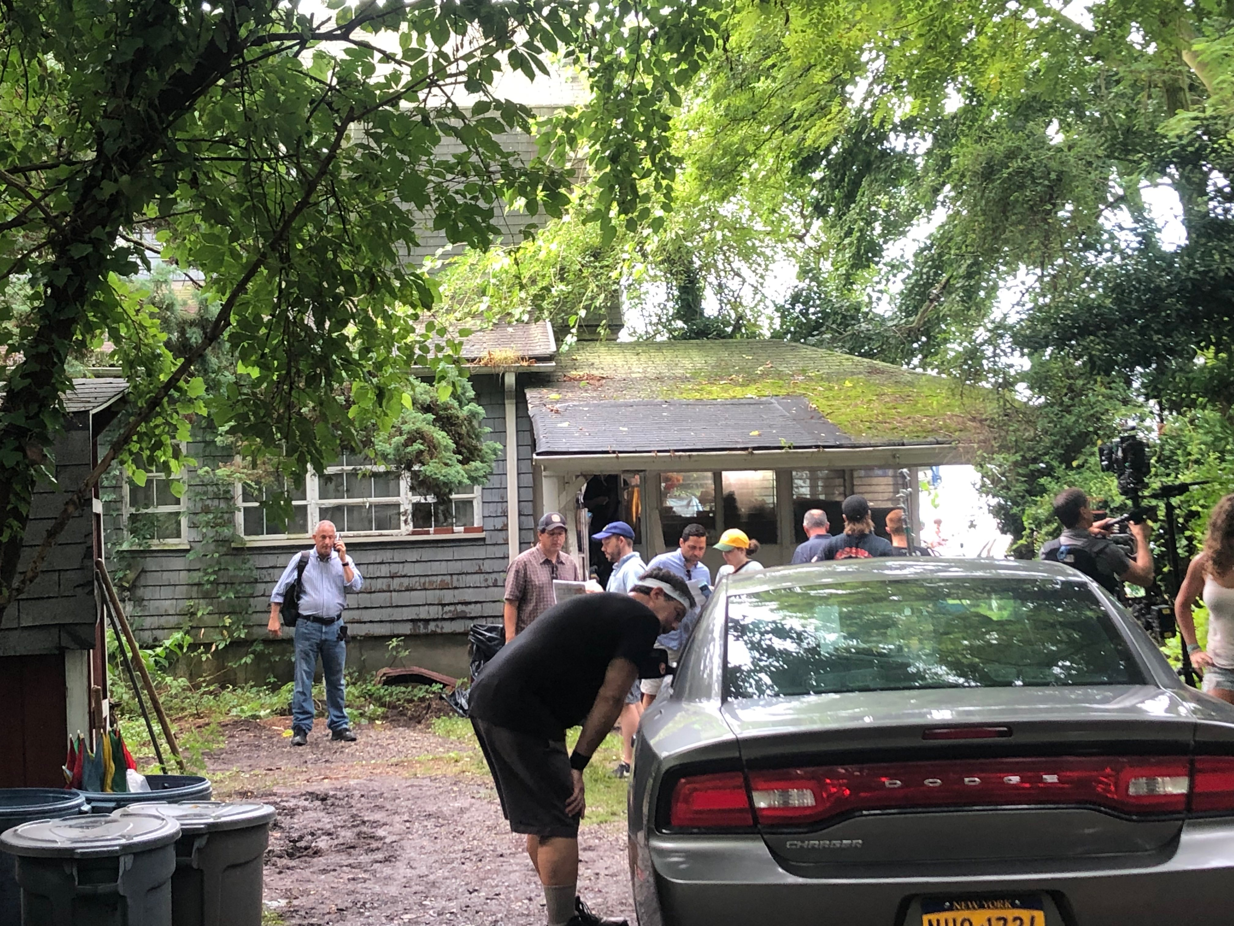 On set: CBS's 'Blue Bloods' films in Huguenot, Donnie Wahlberg drives on Staten Island