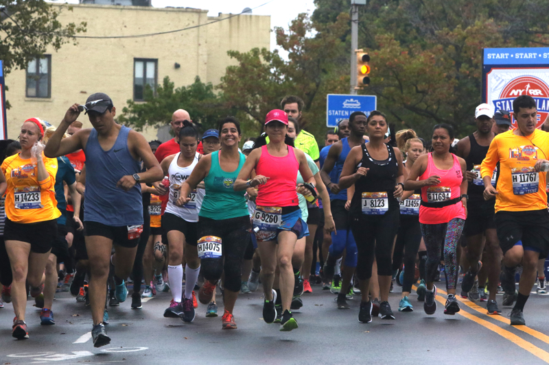 This 2017 file photo shows runners at the Staten Island Half Marathon. (Staten Island Advance)