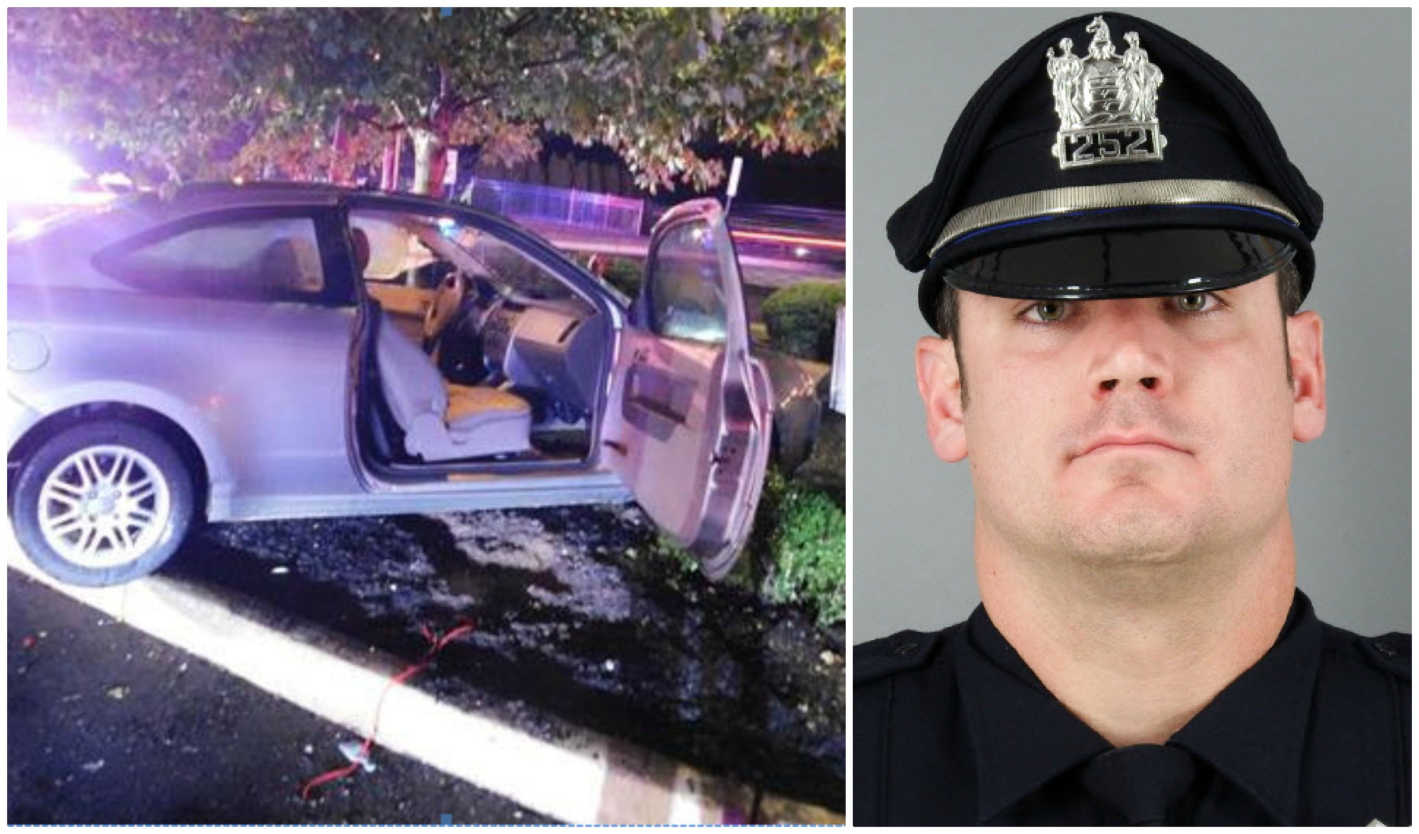 WATCH: Officer dragged nearly 50 feet after teen throws car in reverse, slams into tree during traffic stop