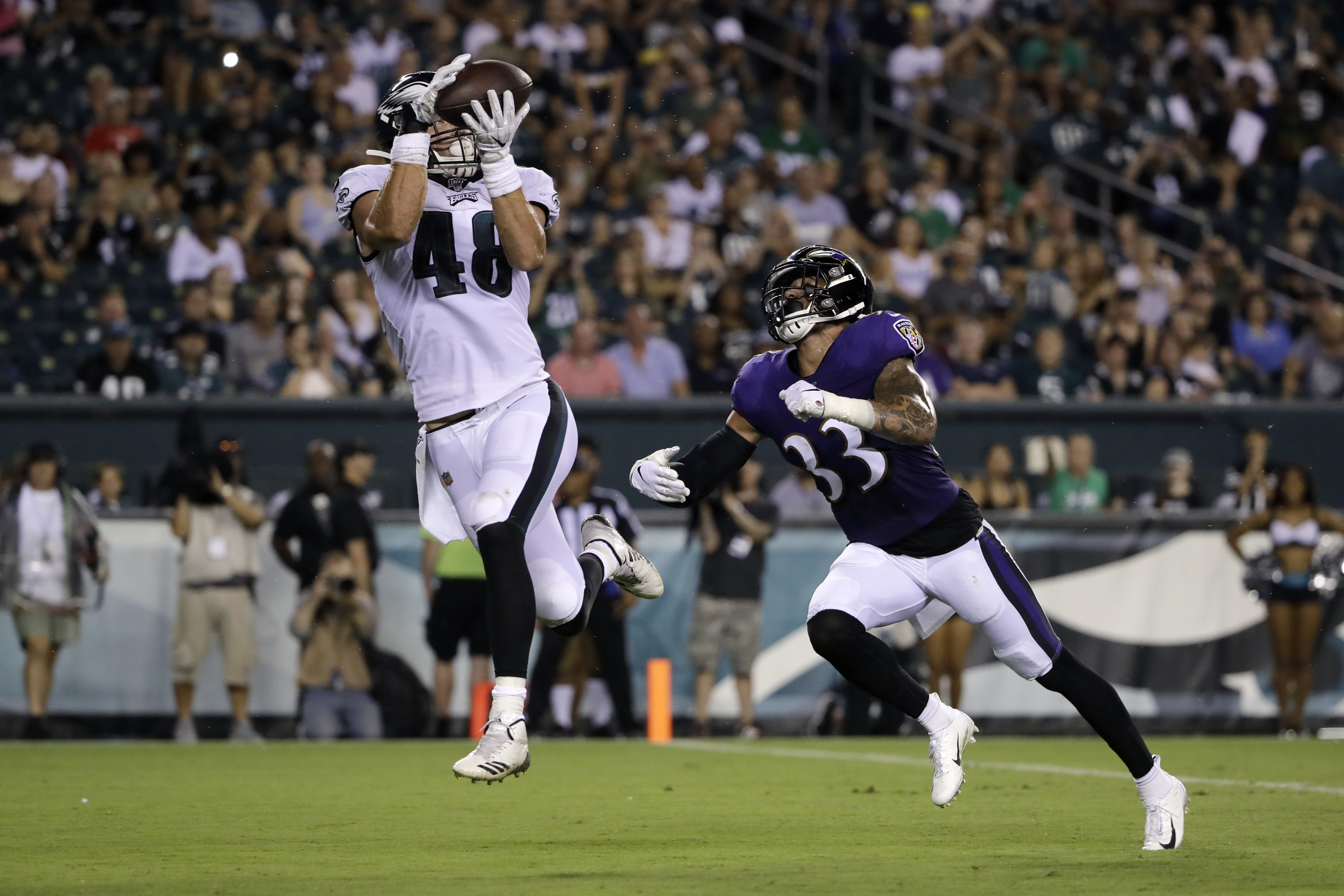 Philadelphia Eagles waive tight end off injured reserve with injury settlement; Dolphins claim cornerback on waivers