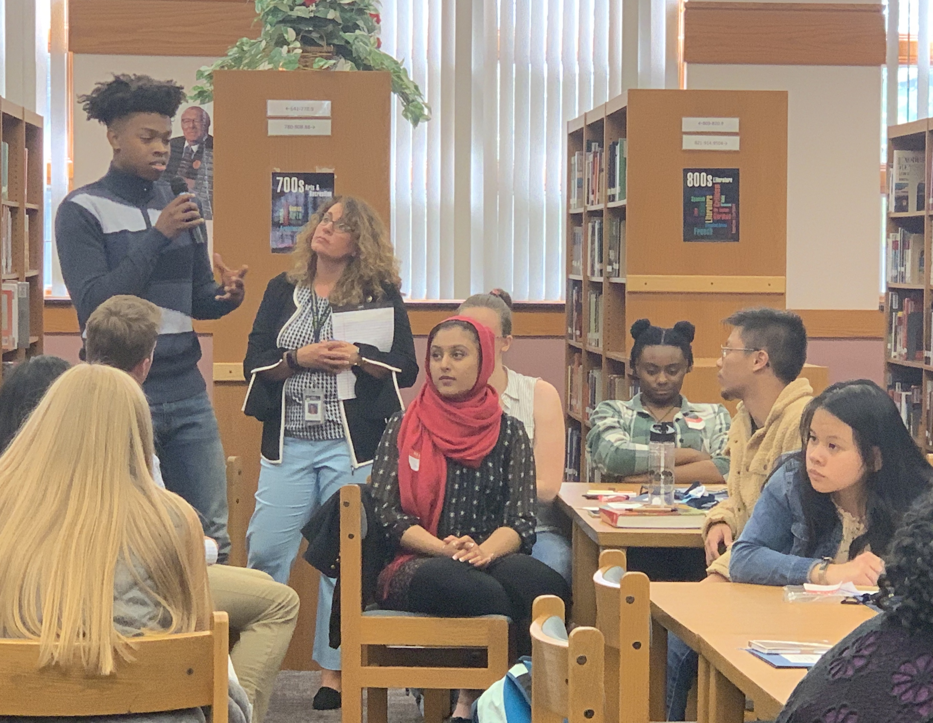 High school students talk about bullying.