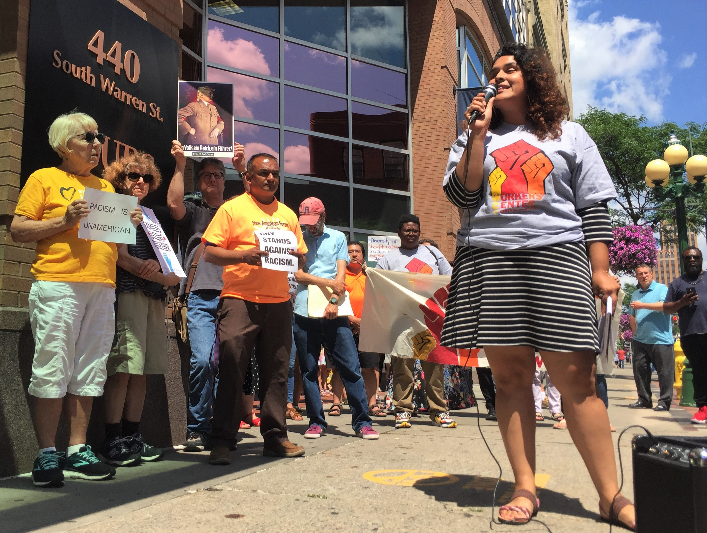 Protesters in Syracuse attack racism, Trump's tweets about Democratic congresswomen