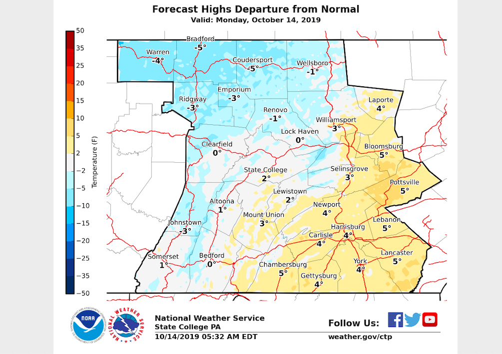 Slightly warmer temperatures in store today, showers expected midweek