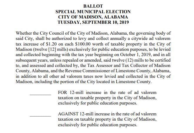 Madison referendum ballot