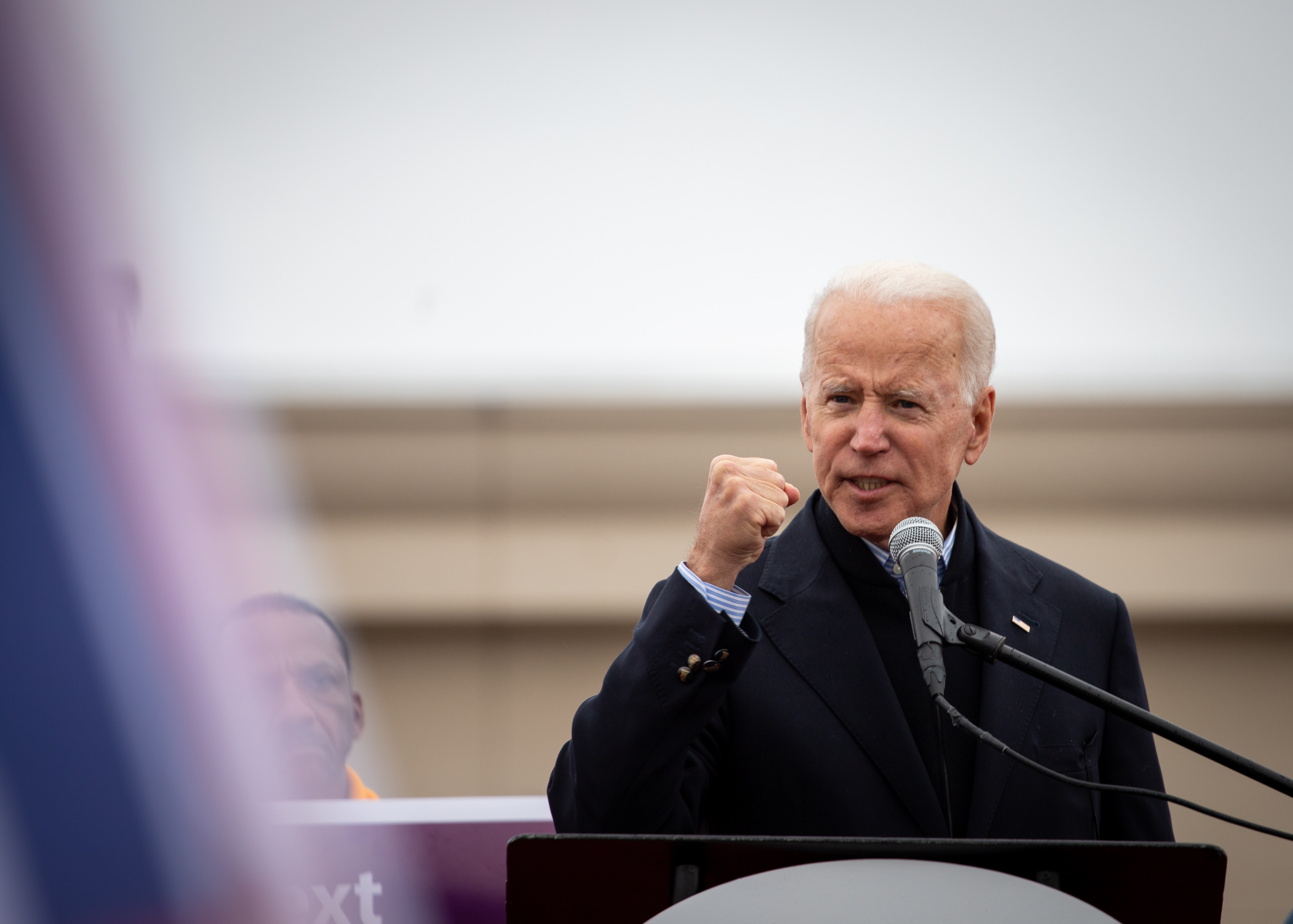 Joe Biden, Marty Walsh rally with Stop & Shop workers at picketing line in Dorchester