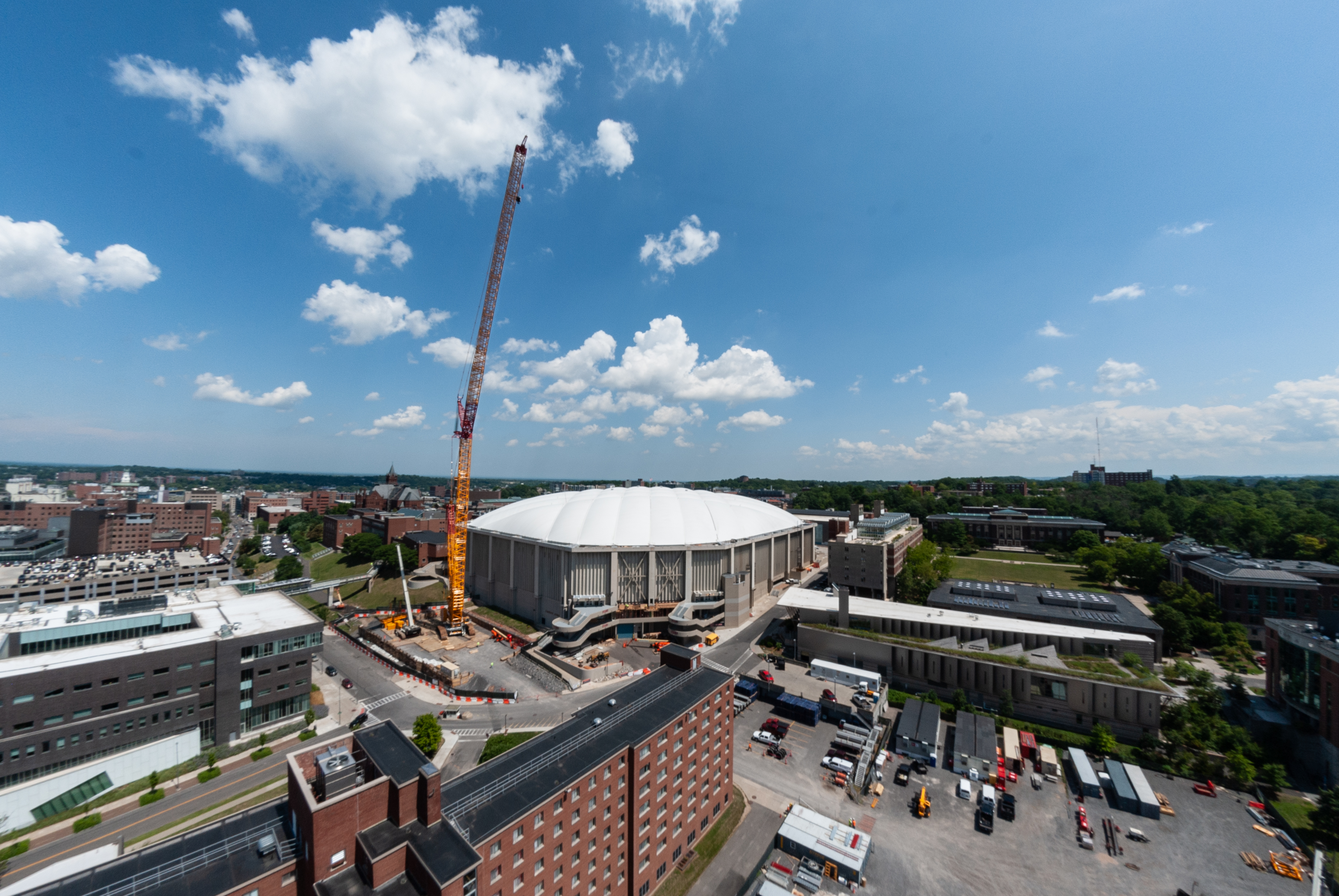 Carrier Dome crane, one of the biggest in the U.S., now towers above the Syracuse skyline