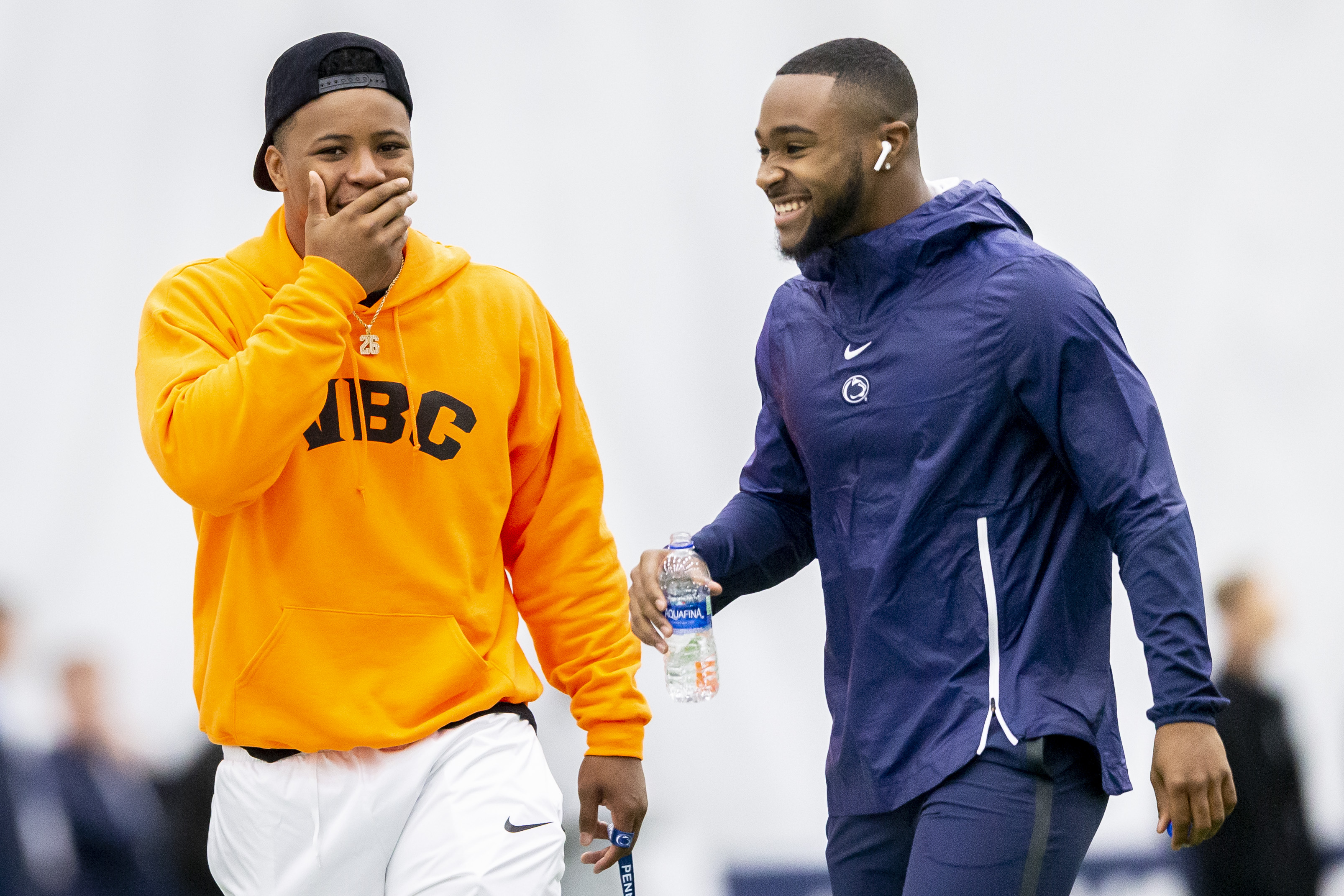 NFL Draft 2019: Eagles 'keeping in touch' with Penn State RB Miles Sanders, who is finally out of Saquon Barkley's shadow | What about Steelers?