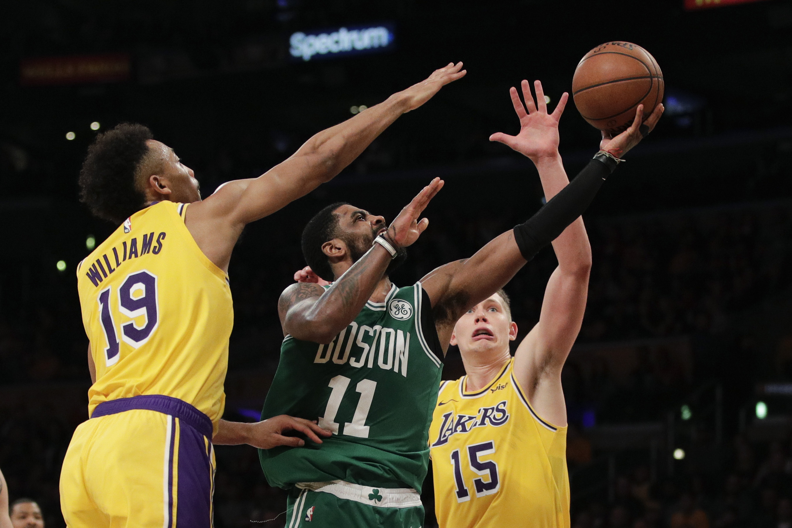 Kyrie Irving Lakers >> Boston Celtics 120 Los Angeles Lakers 107 Kyrie Irving
