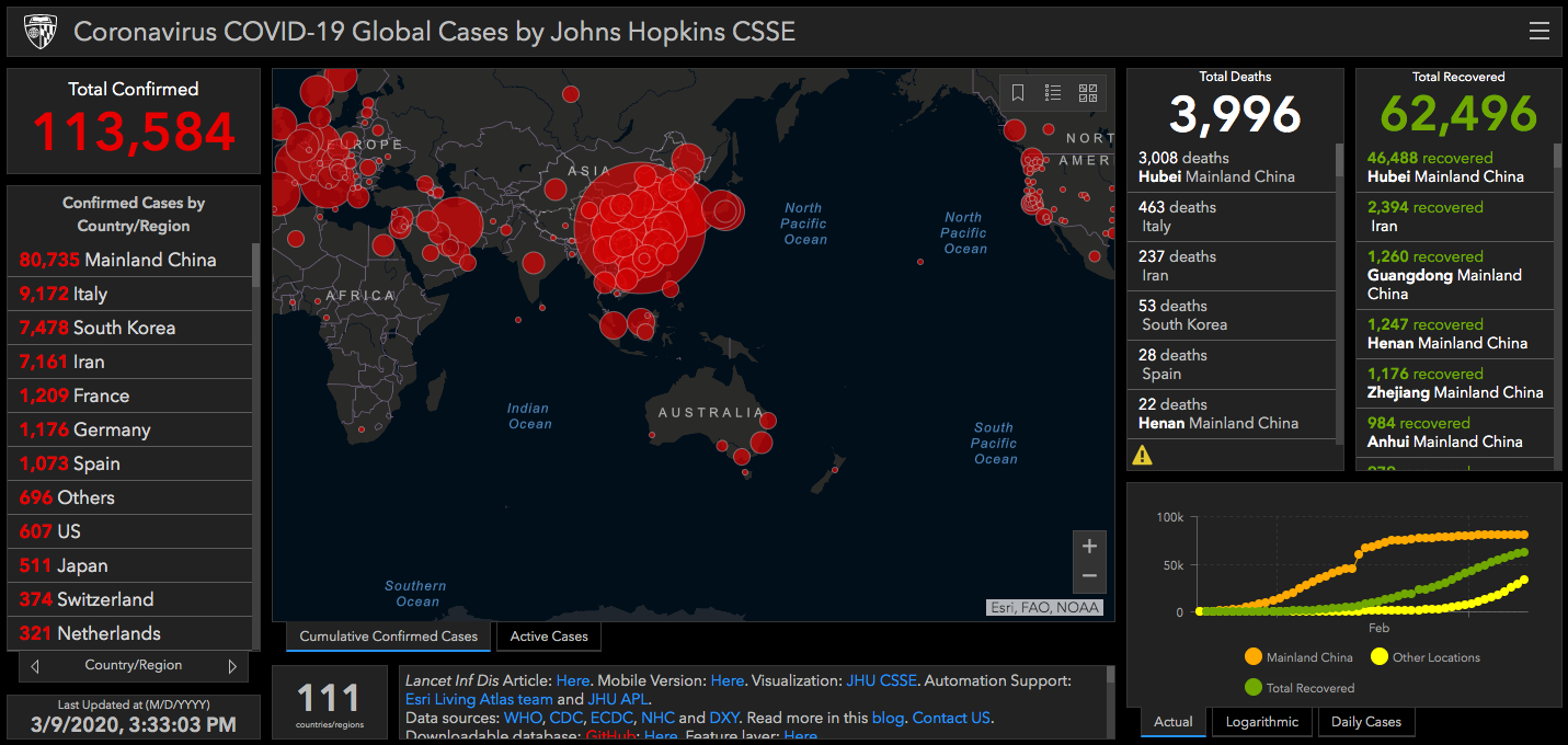 Coronavirus Map Track The Spread Of Covid 19 In Your State Around The World With Interactive Map In Real Time Masslive Com