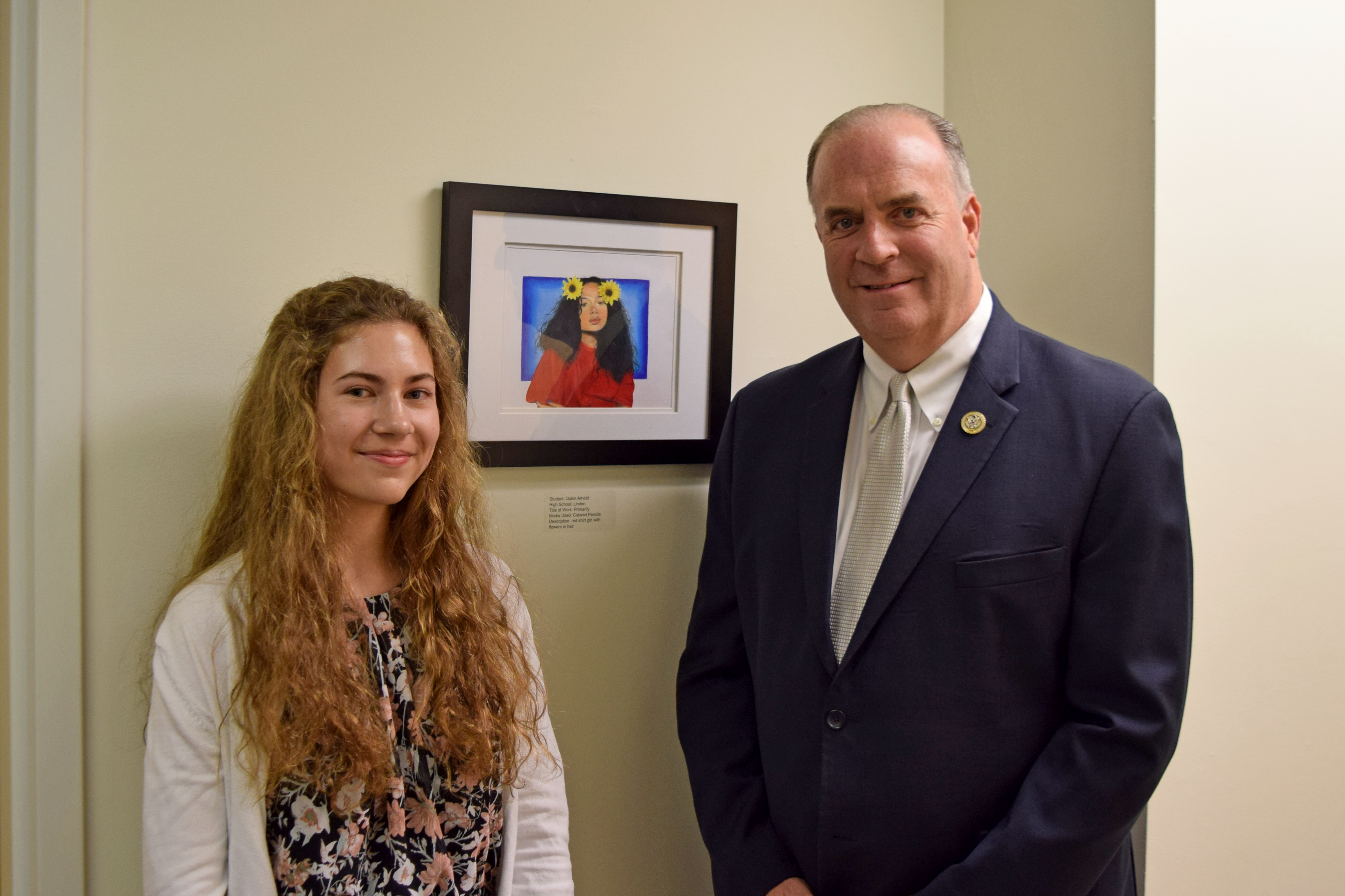 Linden high schooler's artwork heads to U.S. Capitol after winning competition