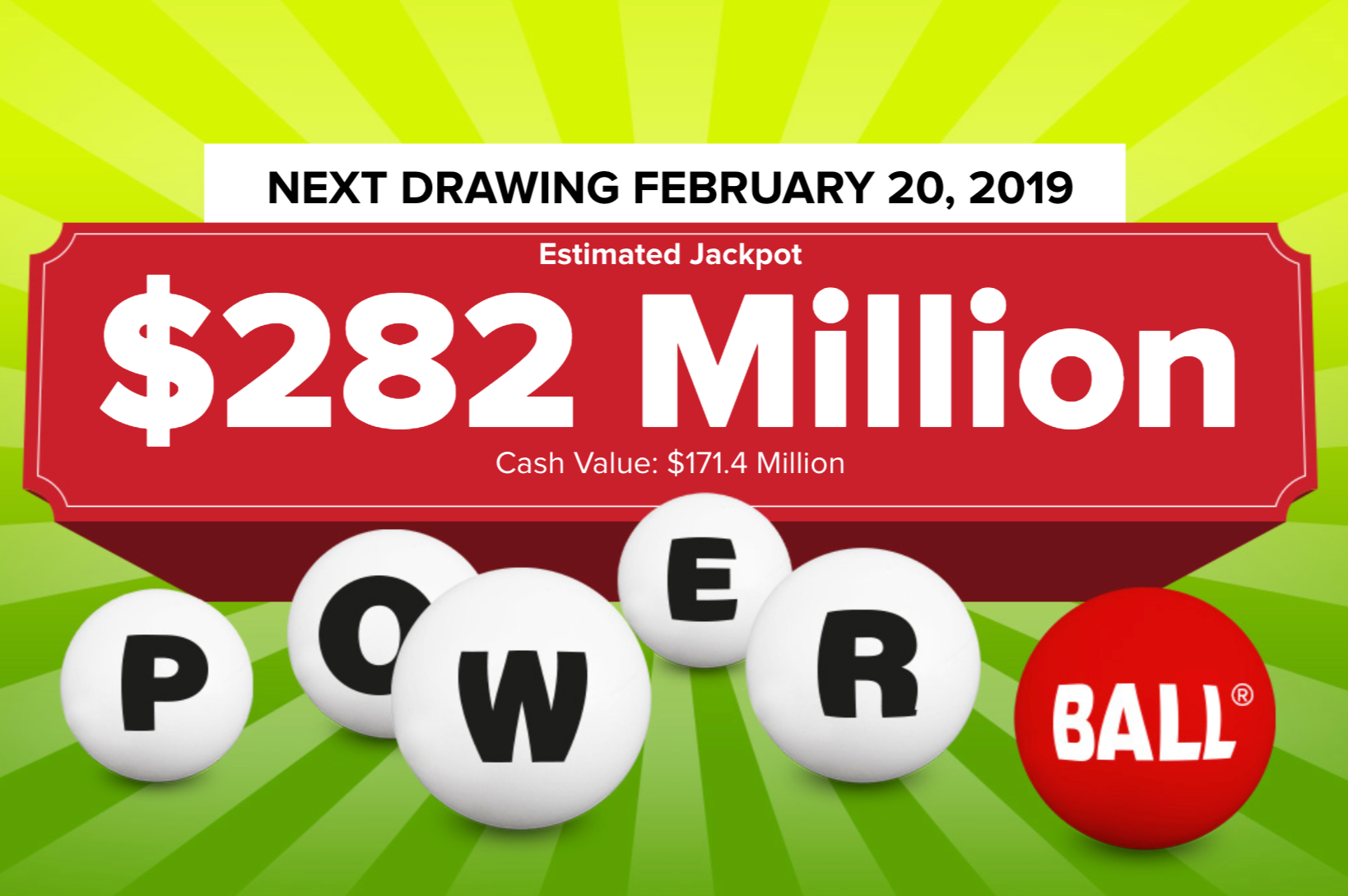 Powerball lottery ticket worth $1M sold in N.J. as jackpot climbs to $282M