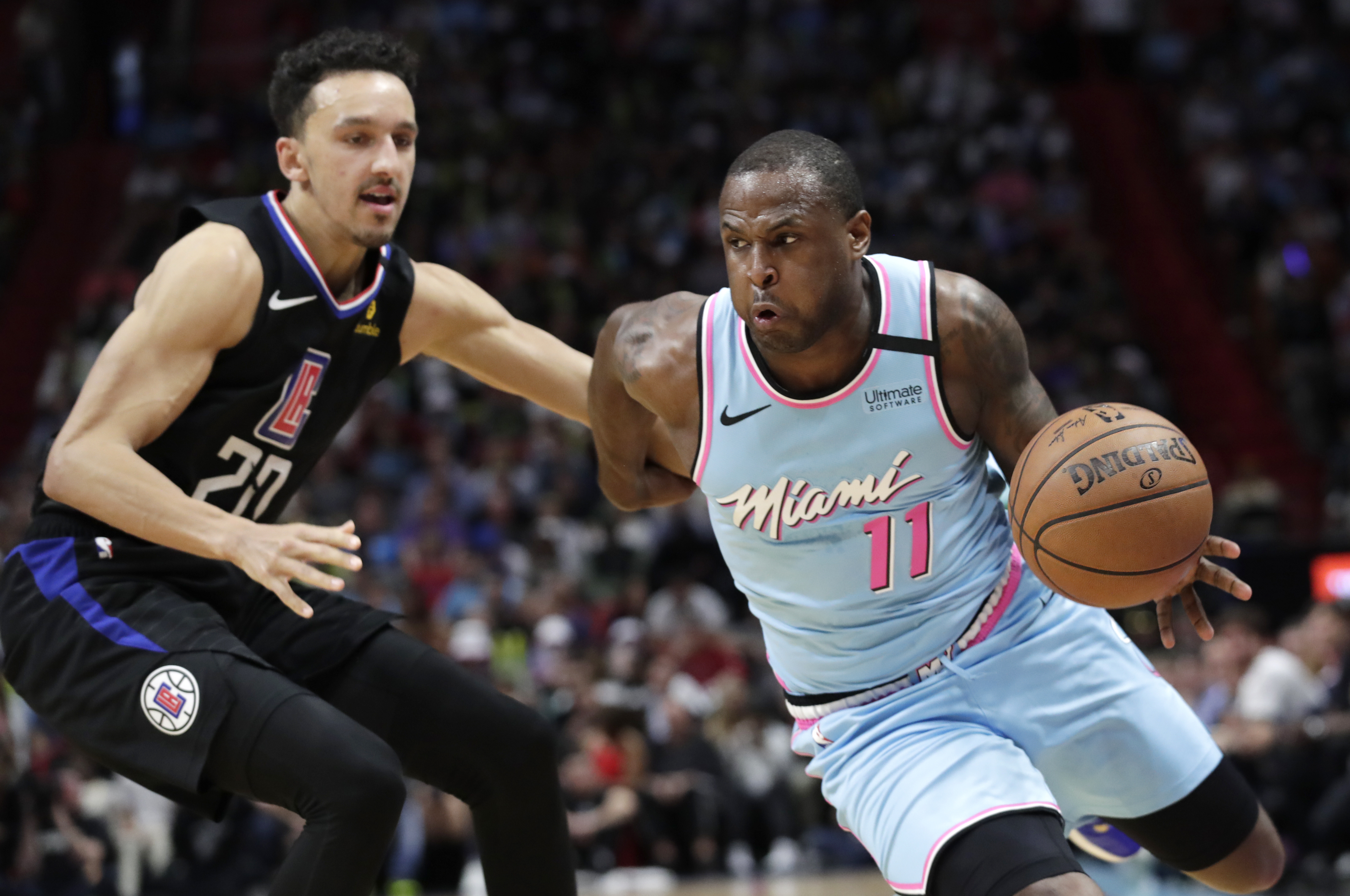 Dion Waiters plays in first game this season with Miami Heat, takes plenty of 3s, gets loud ovation