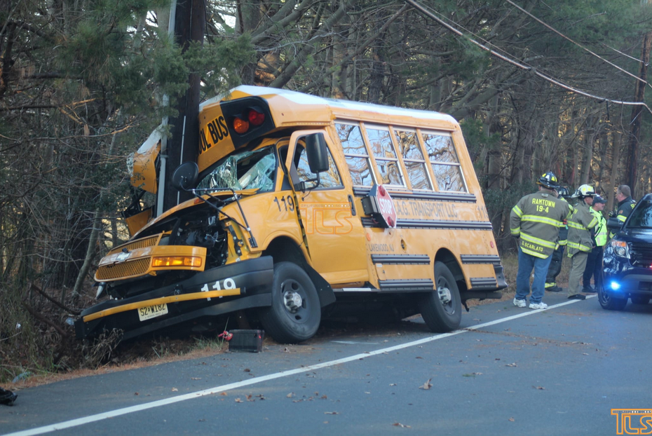 Students OK after school bus crashes into pole in Monmouth County
