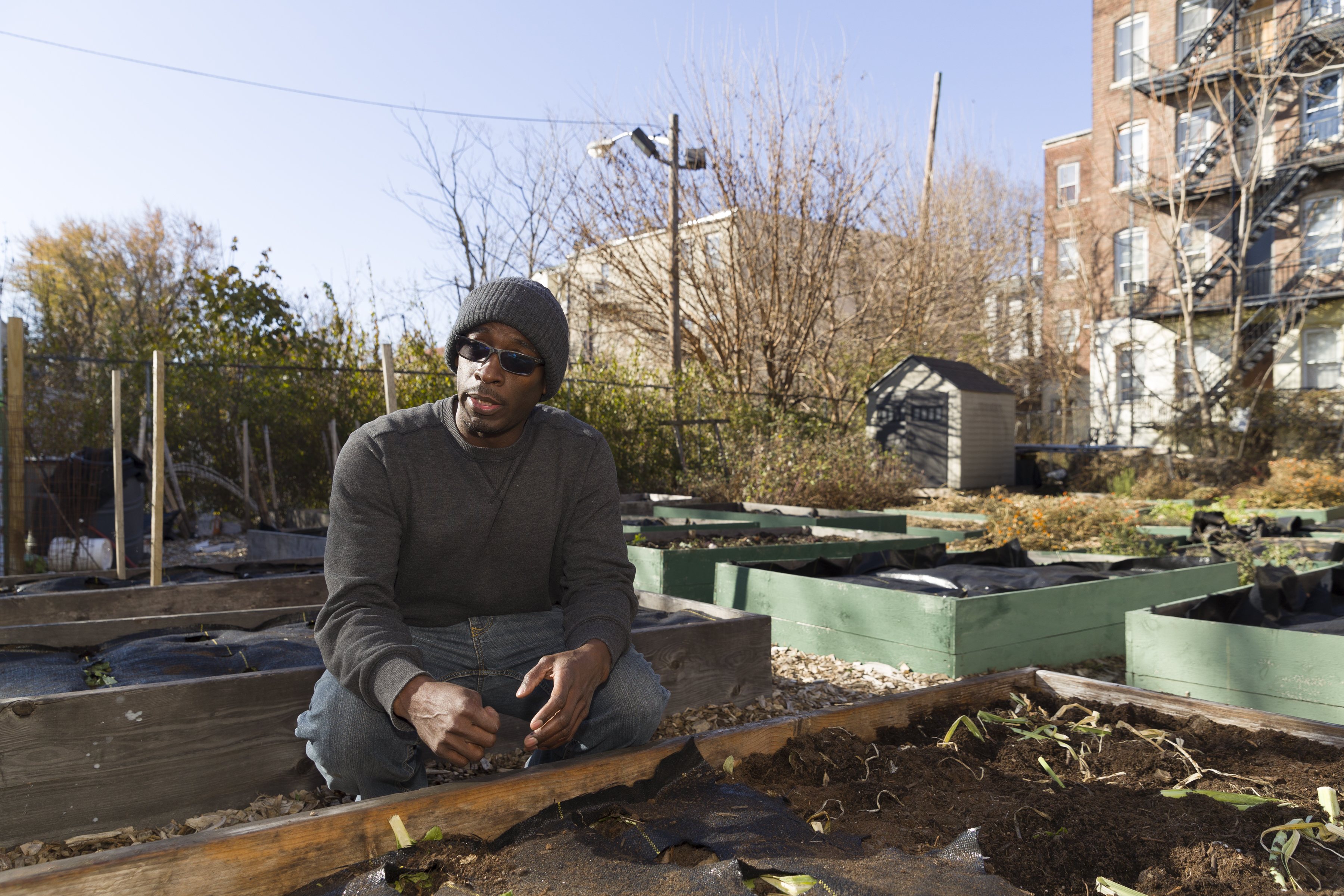 Green gardens sprouting from vacant lots. Urban farmers hope to grow city's economy.