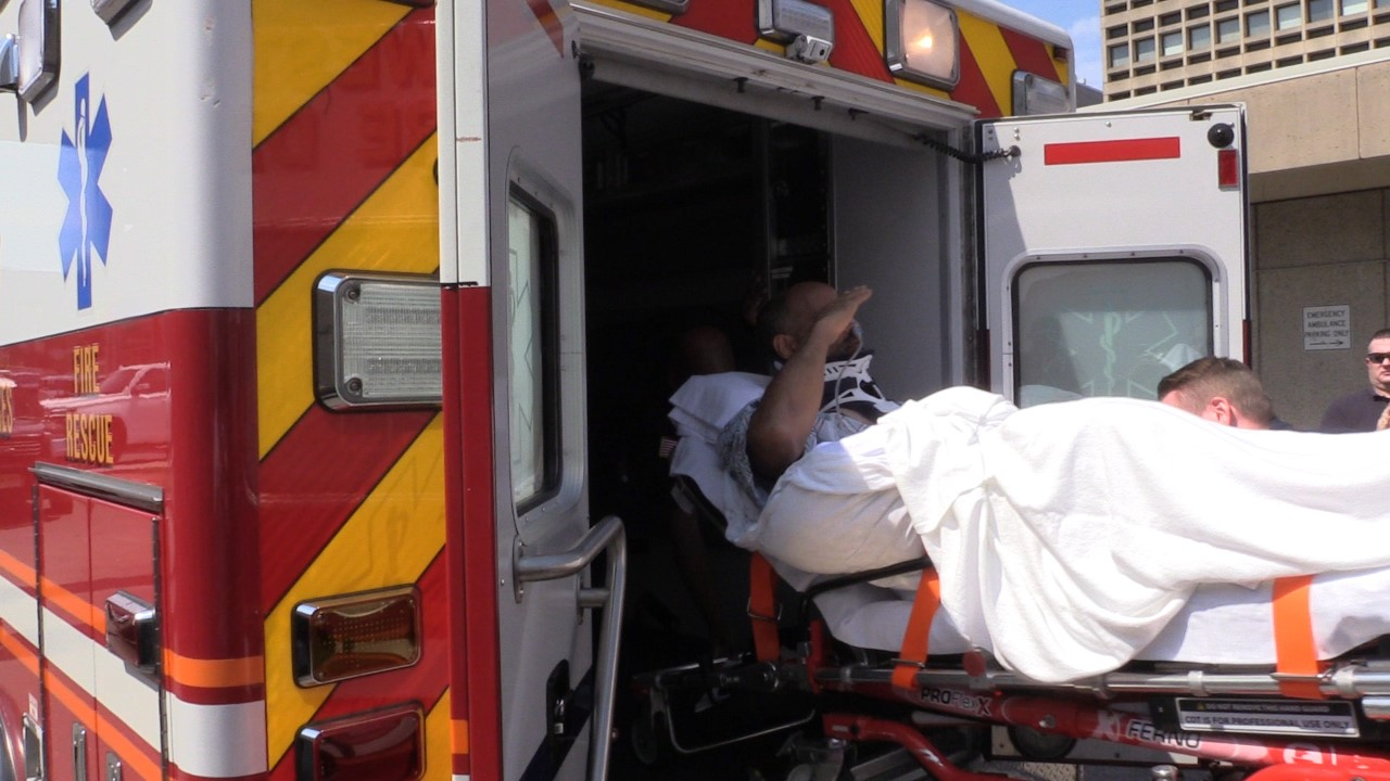 N.J. firefighter seriously hurt in dump truck wreck leaves hospital to applause