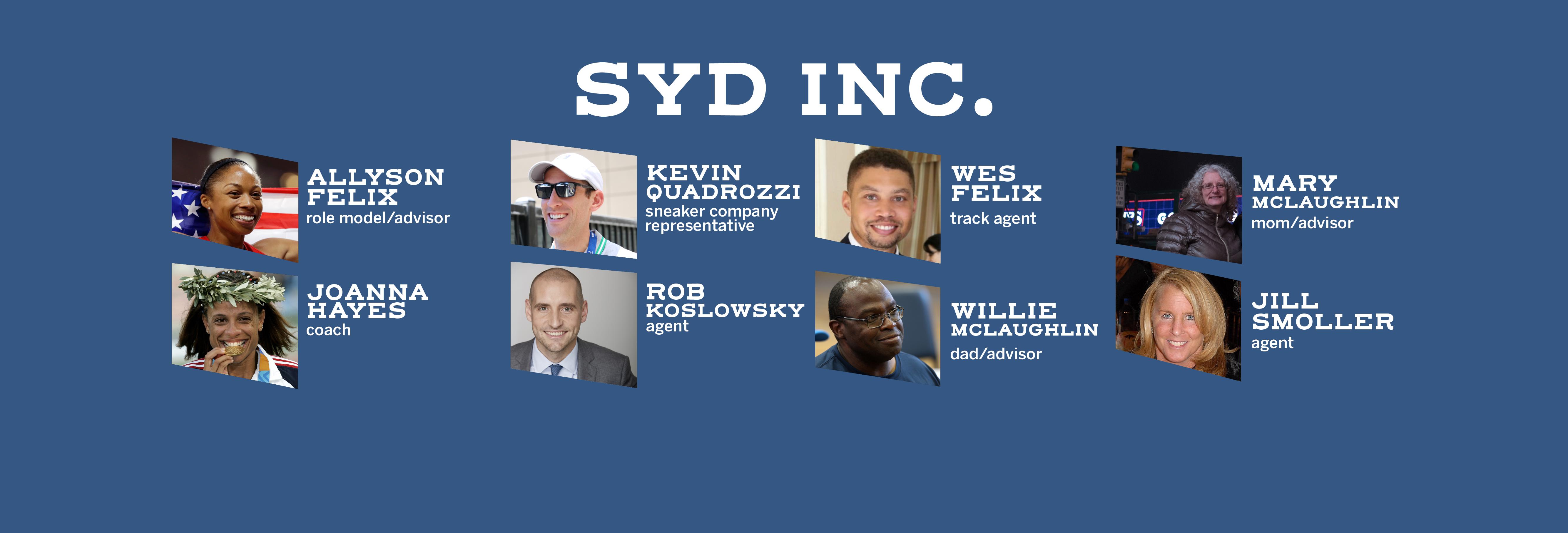 Sydney's business teammates