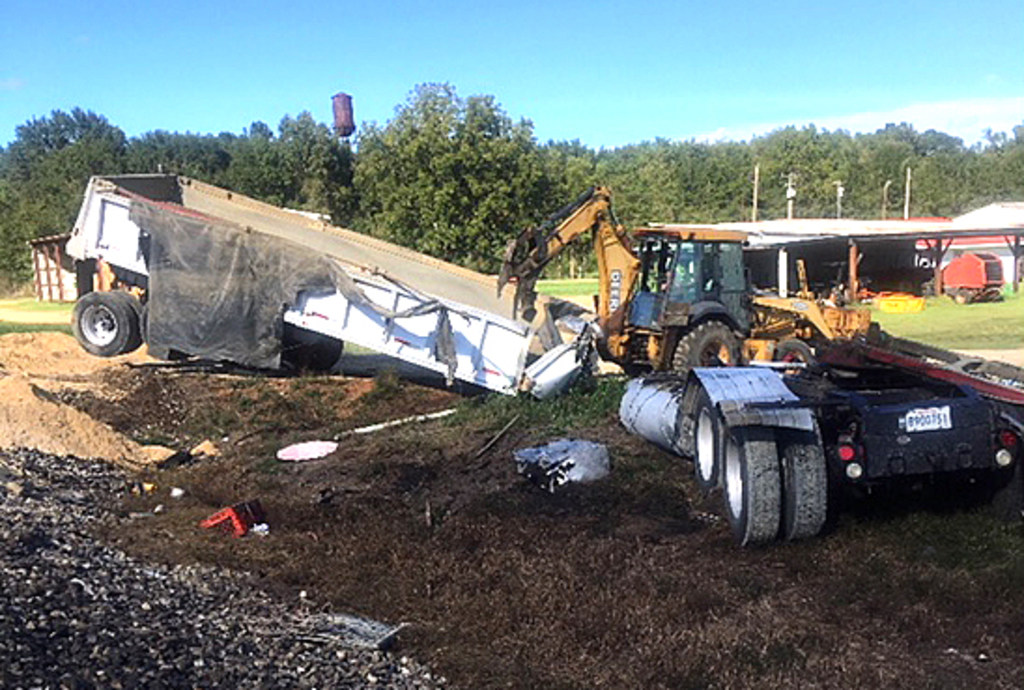 The scene of a deadly collision between an 18-wheeler and Amtrak train at the U.S. 51 crossing in Fluker in Tangipahoa Parish on Wednesday, Oct. 10, 2018. One person died, authorities said.