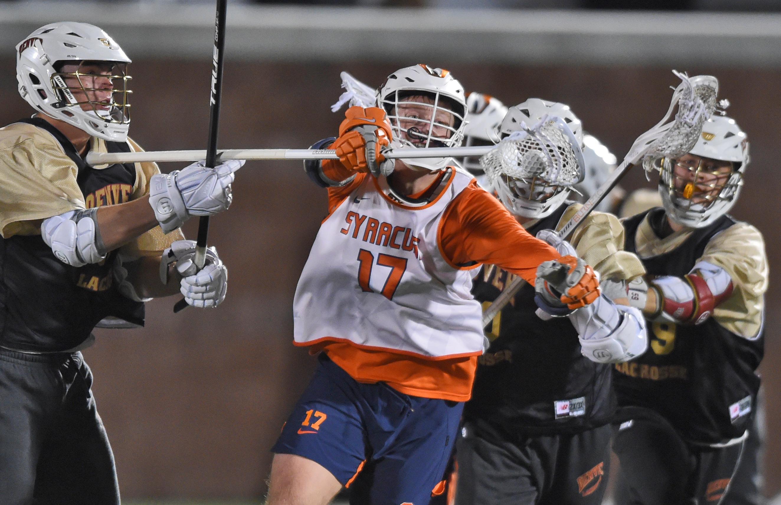 Dordevic scores twice as Syracuse lacrosse ties Denver in scrimmage
