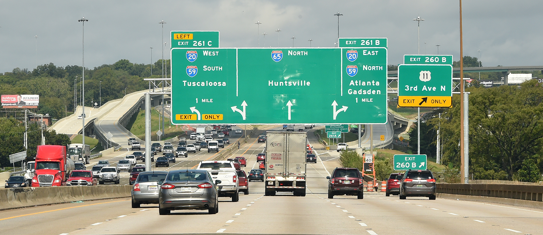I-59/20 in downtown Birmingham will close for 14 months