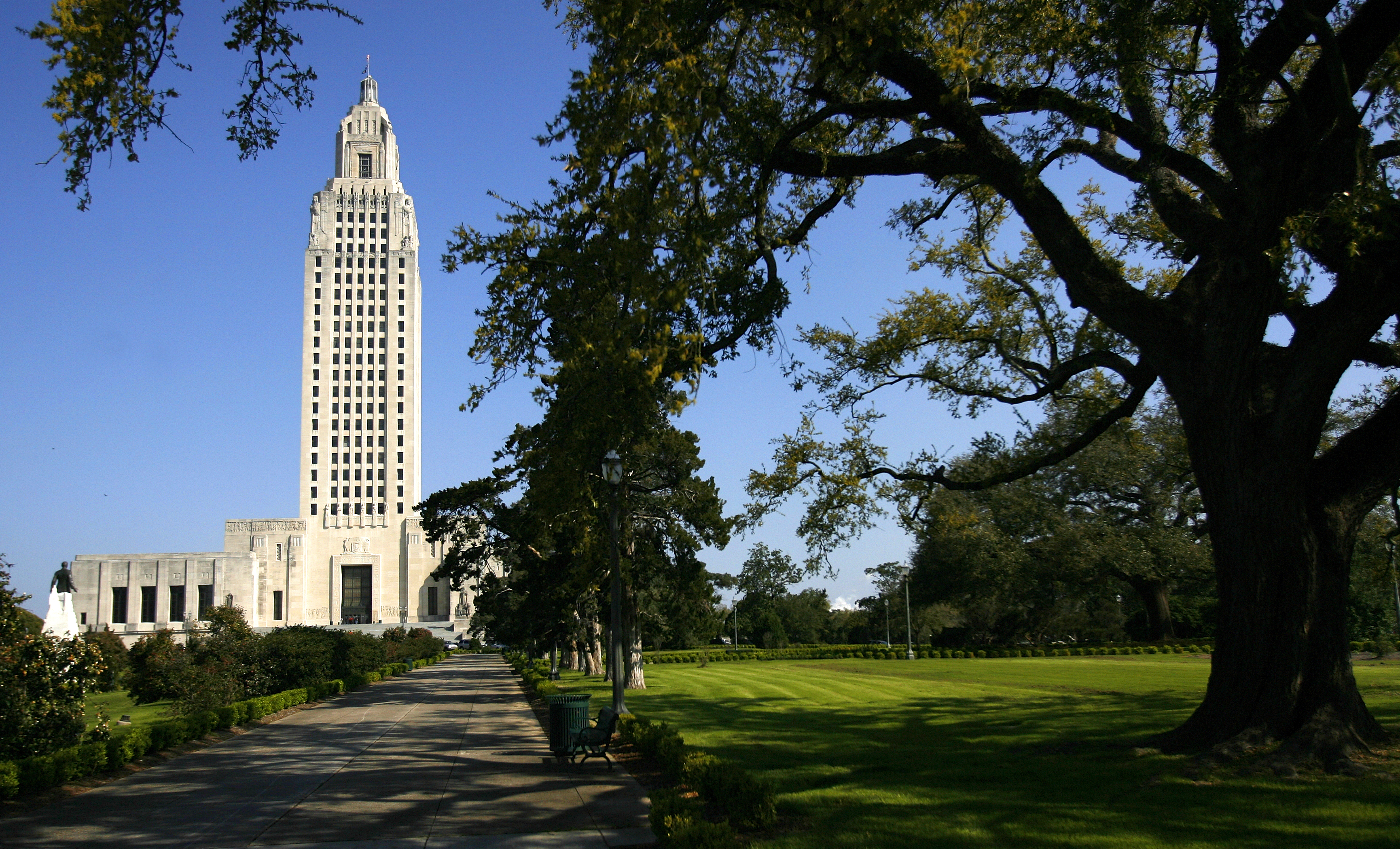Louisiana State Capitol in Baton Rouge, photographed March 18, 2010.