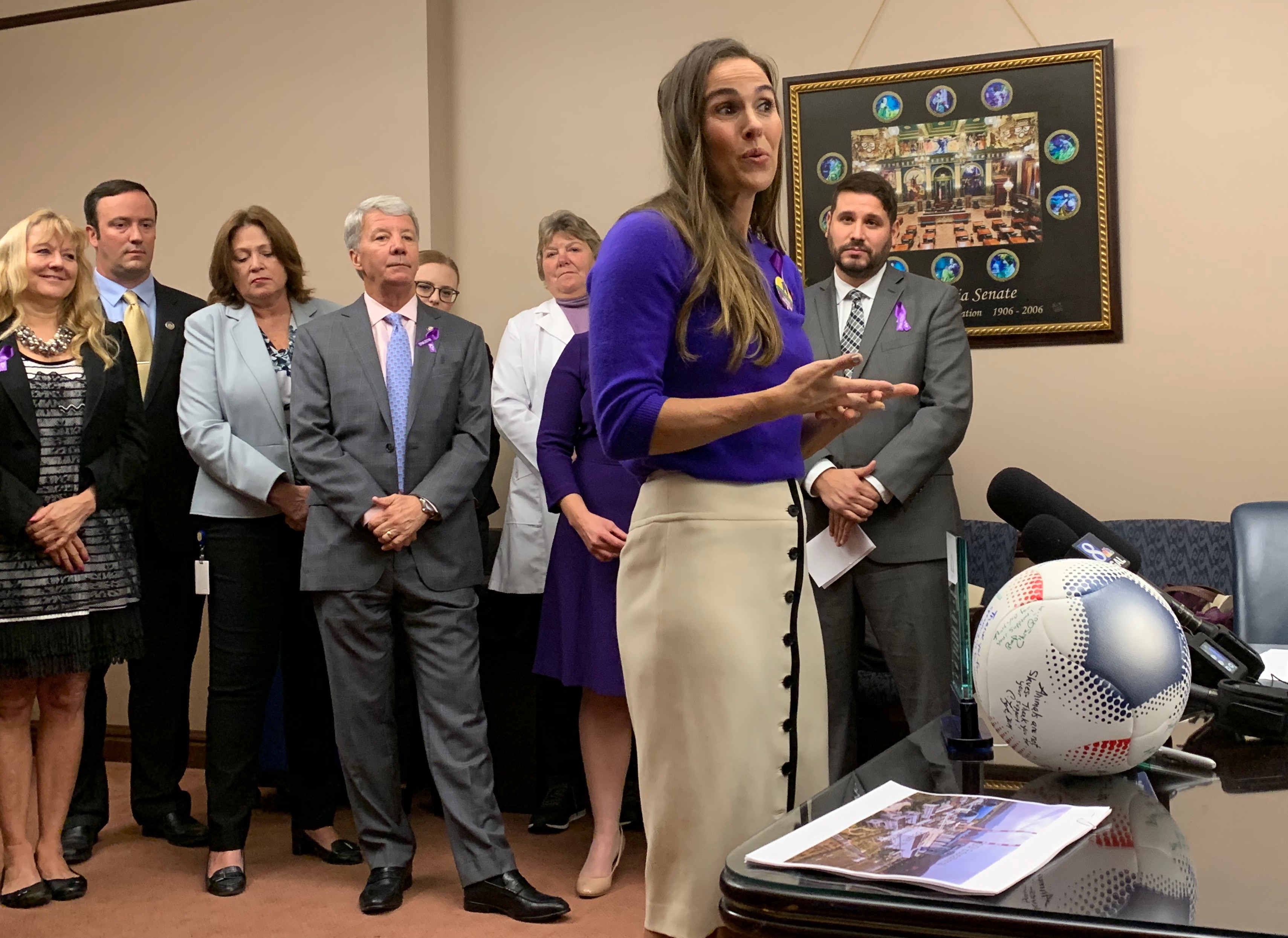 Soccer star Heather Mitts adds her voice to animal welfare advocates who favor 'kicking puppy mills out of Pennsylvania'