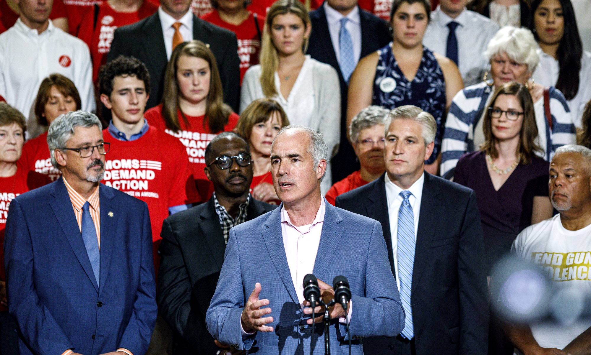 Gov. Wolf, Sen. Casey call for action on guns after mass shootings