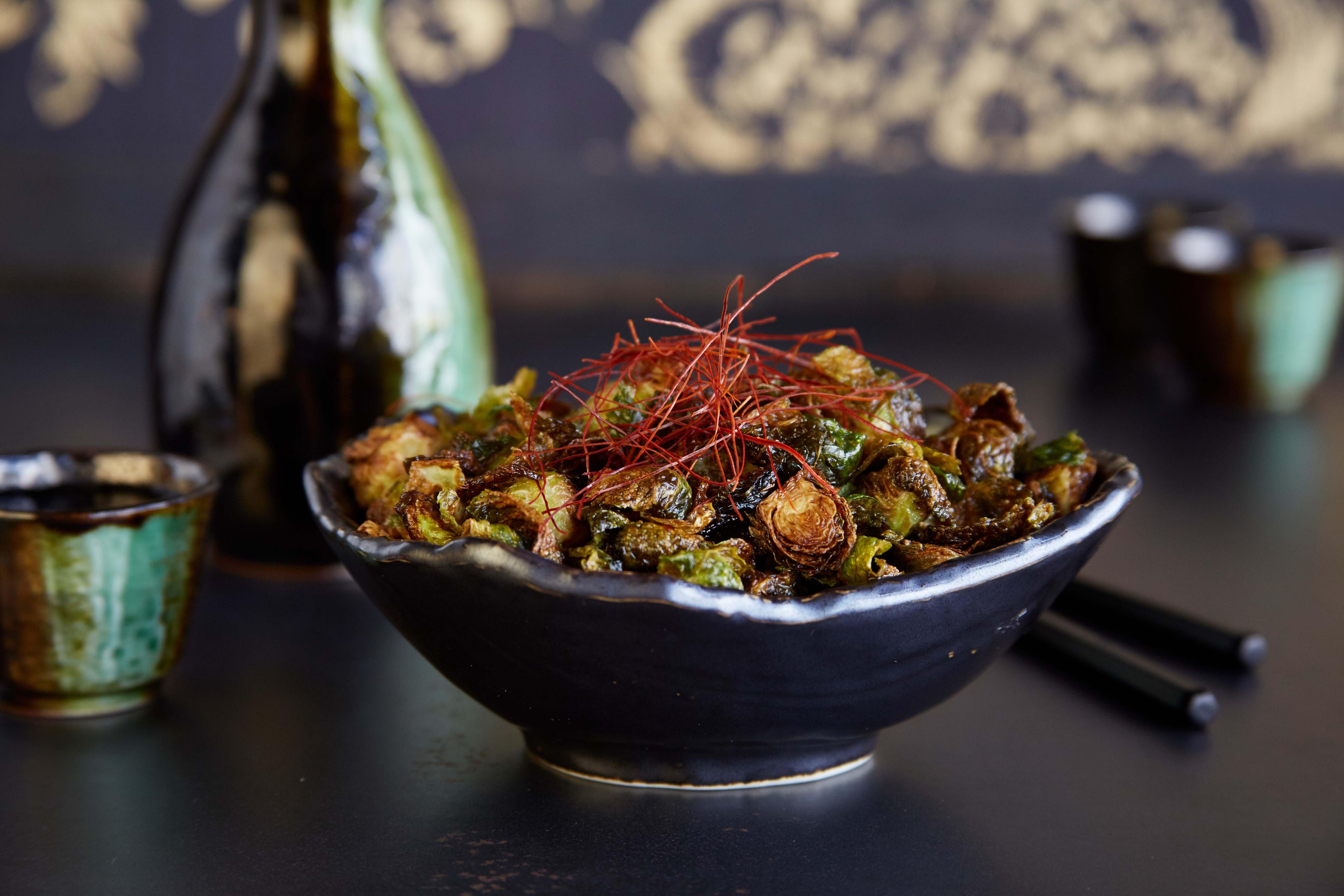 Hot & Sour Brussels Sprouts at Shu Shop