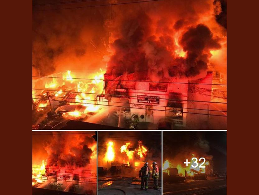 Blaze engulfs, destroys auto repair shop and apartment in Dryden